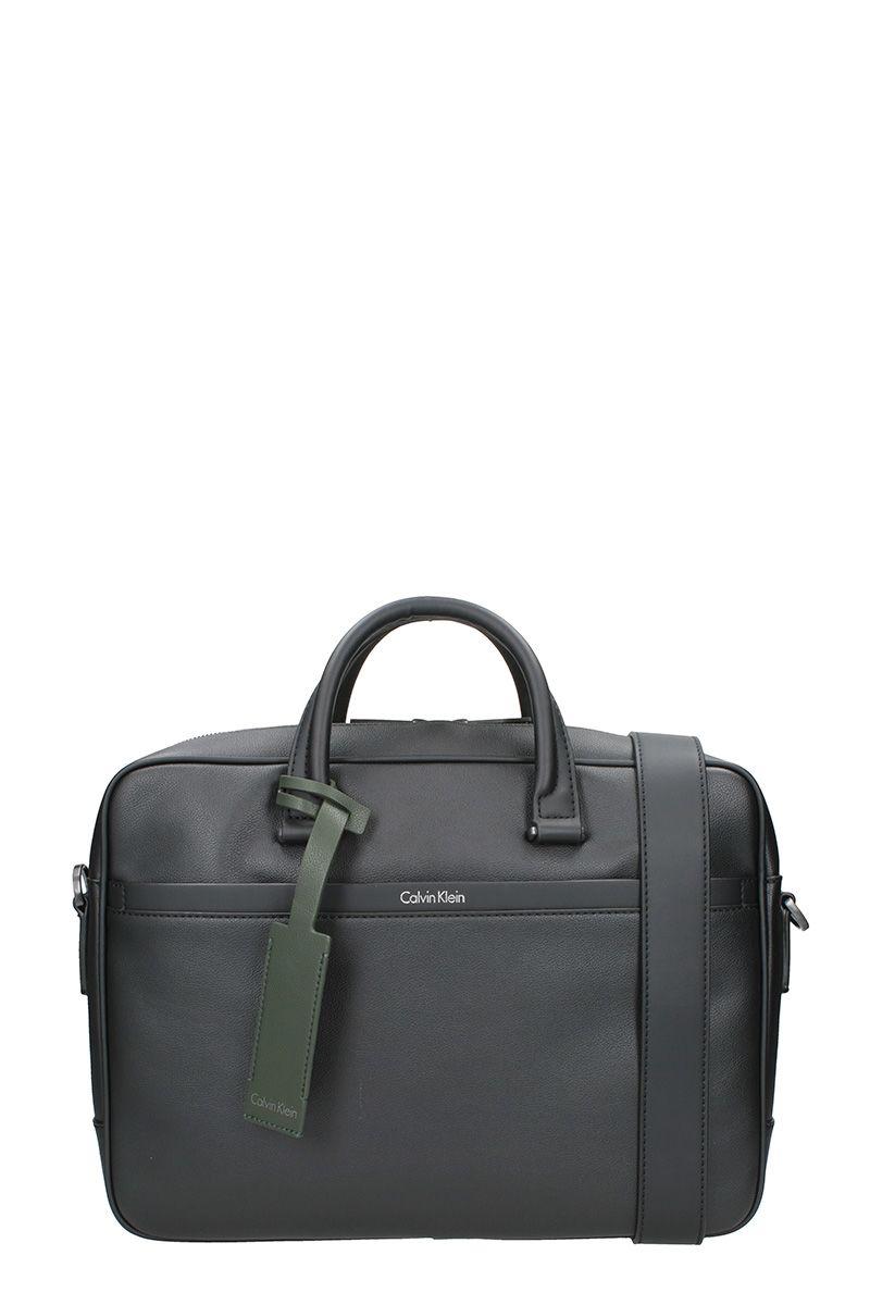 Calvin Klein Elia Handbag In Black Eco Leather