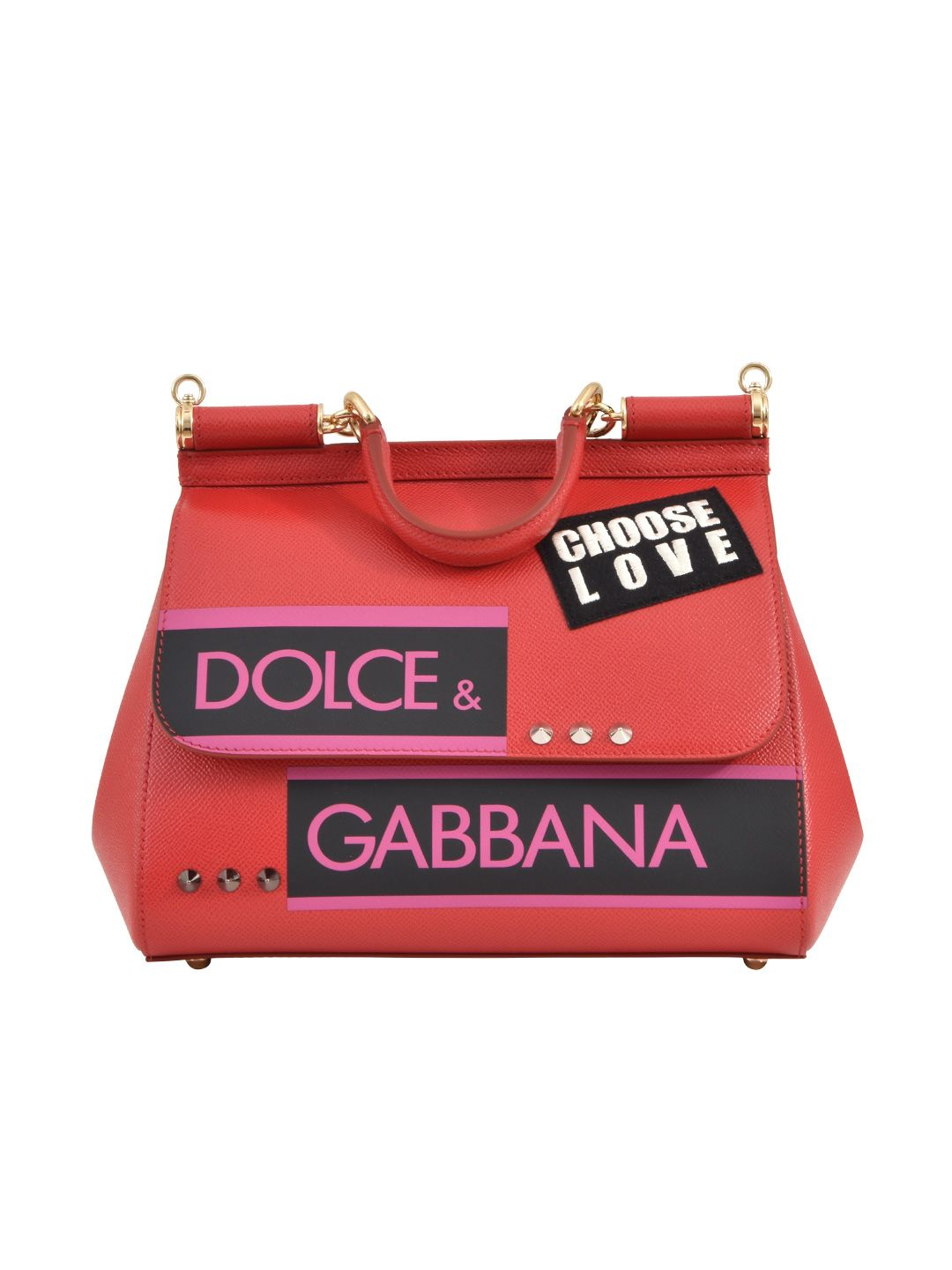 Dolce & Gabbana Sicily Red Md Tote
