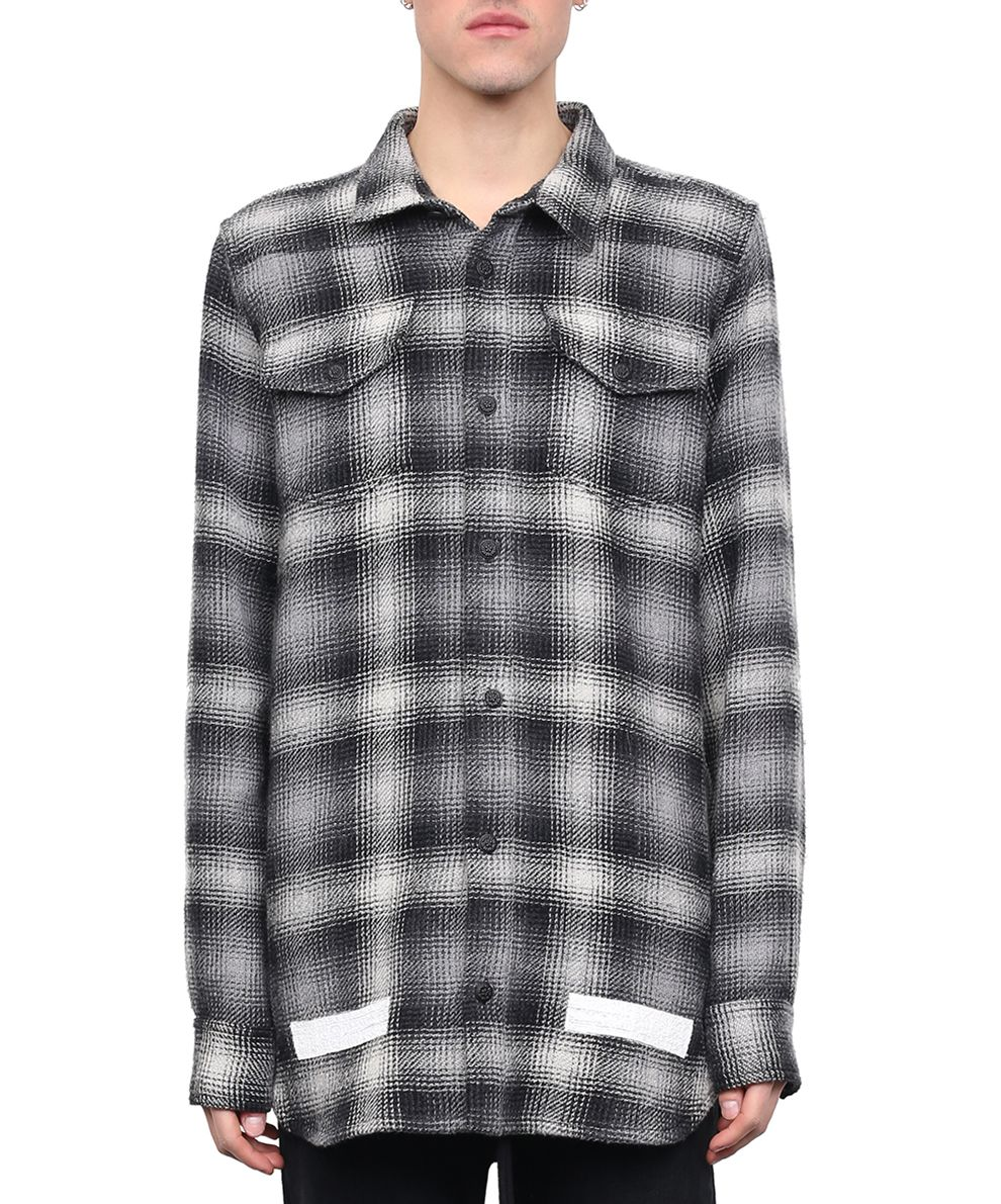 Off-White Brushed Flannel Shirt