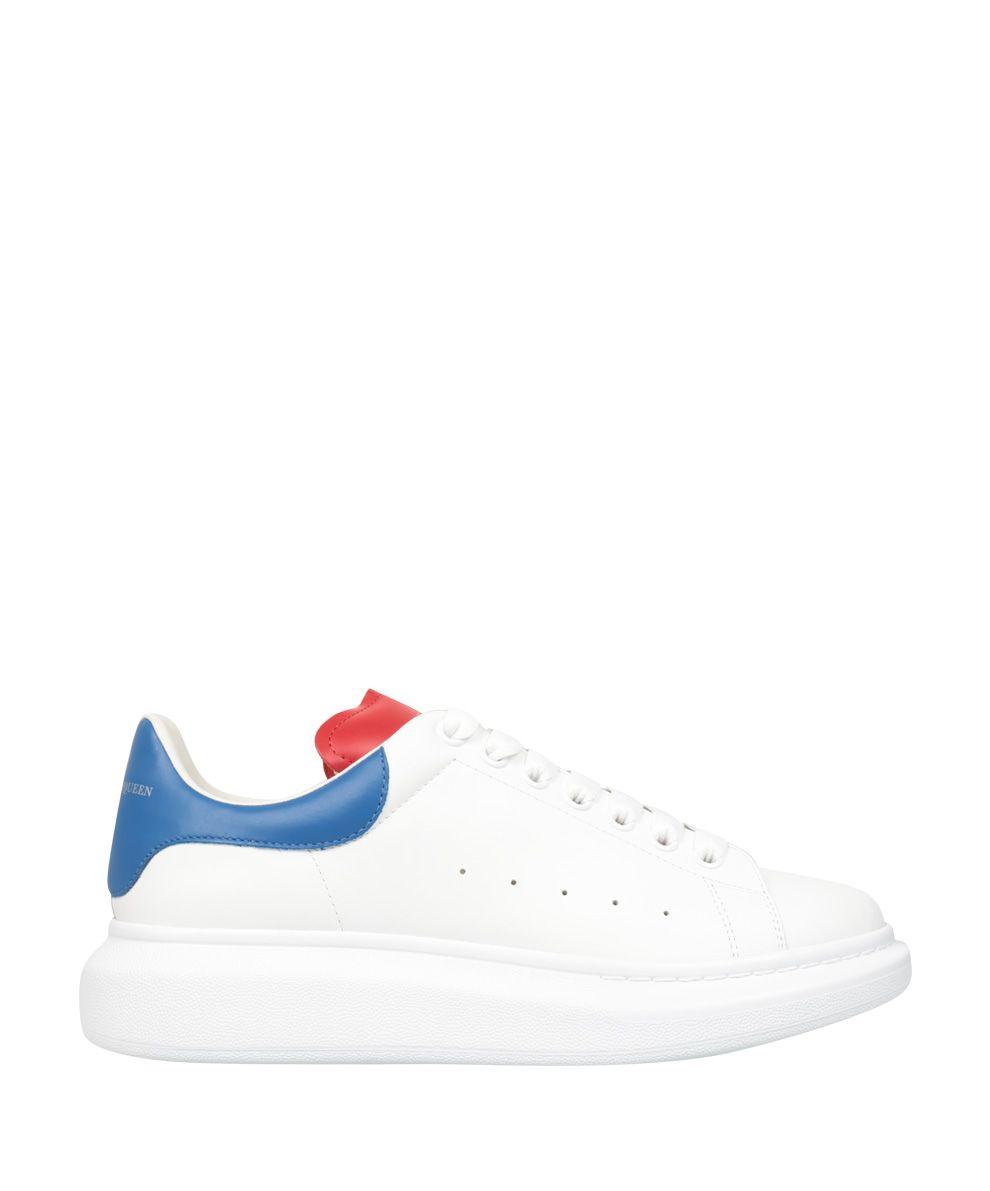 Alexander McQueen Leather Wedged Sneakers