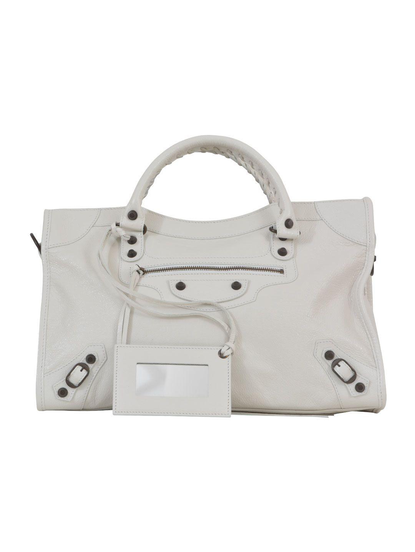 balenciaga city bag white