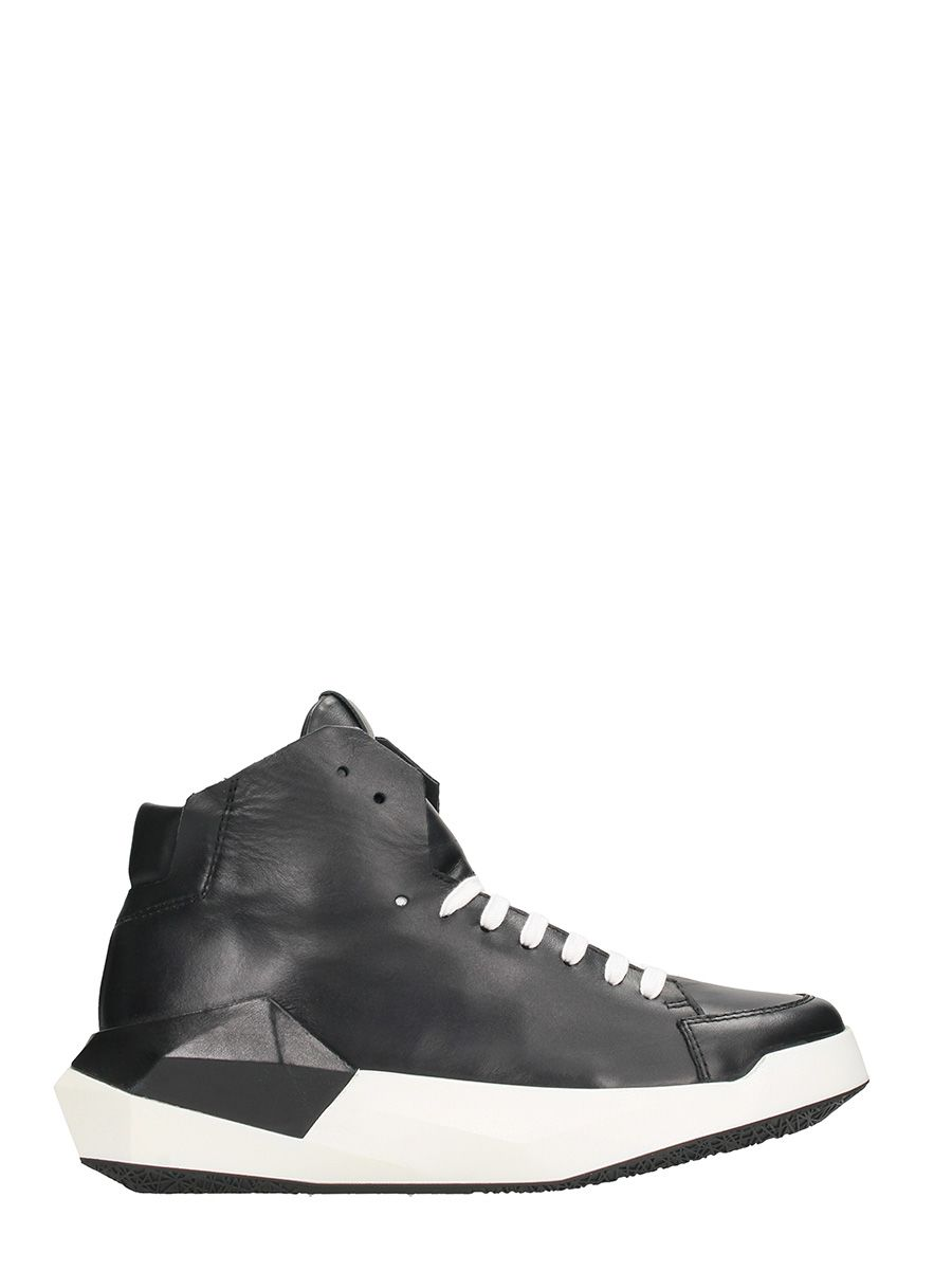 Cinzia Araia Dyamont Black Leather Sneakers