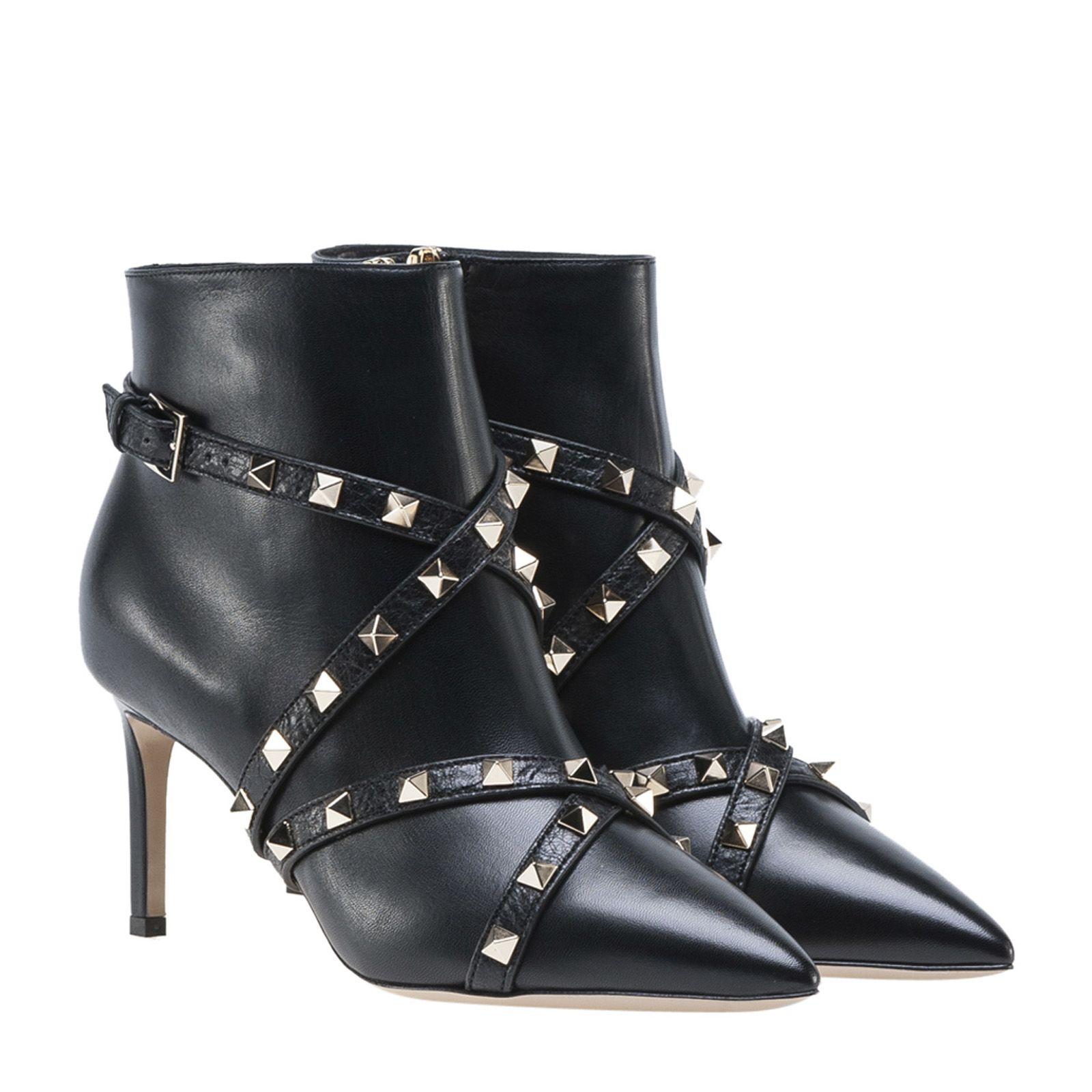 Valentino - Valentino Garavani Studs Boots - BLACK, Women ...