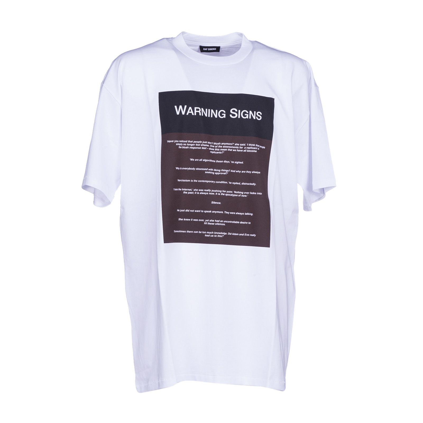 Raf Simons Warning Signs T-shirt