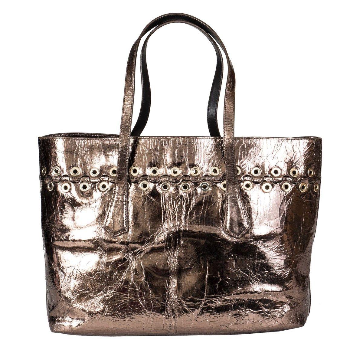 Laminated Leather Shopping Bag