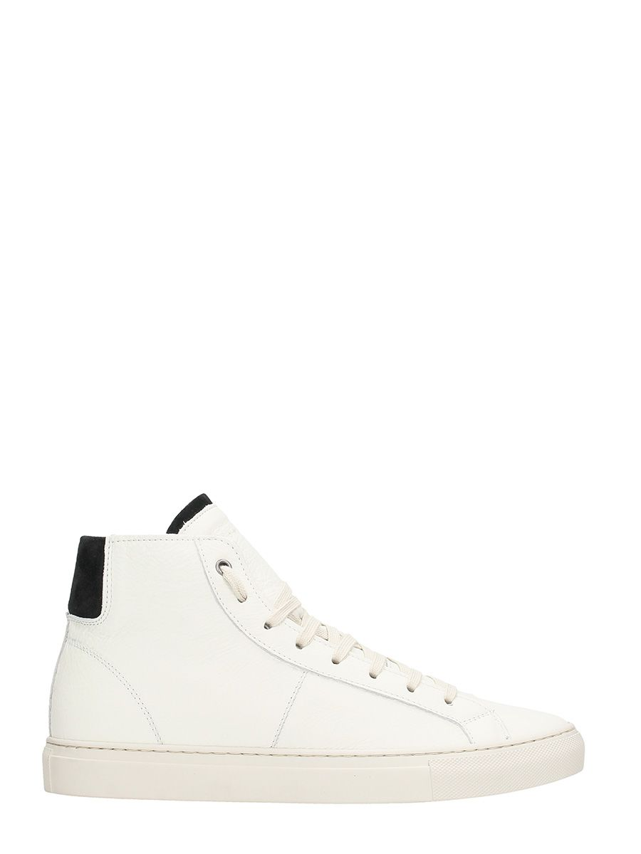 Low Brand Retro White Leather High Sneakers