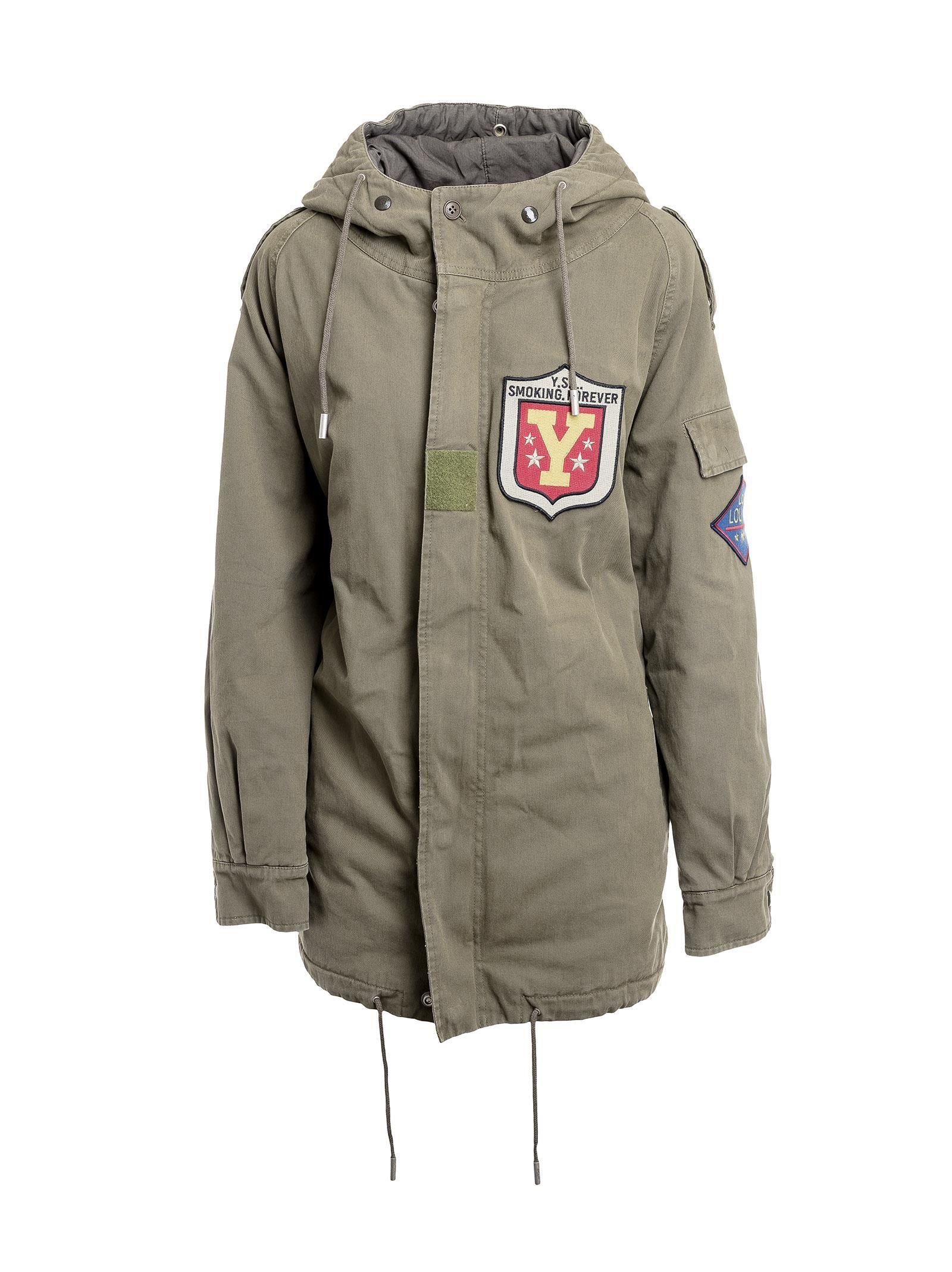 Saint Laurent - Saint Laurent Hooded Military Parka Coat - KHAKI ...
