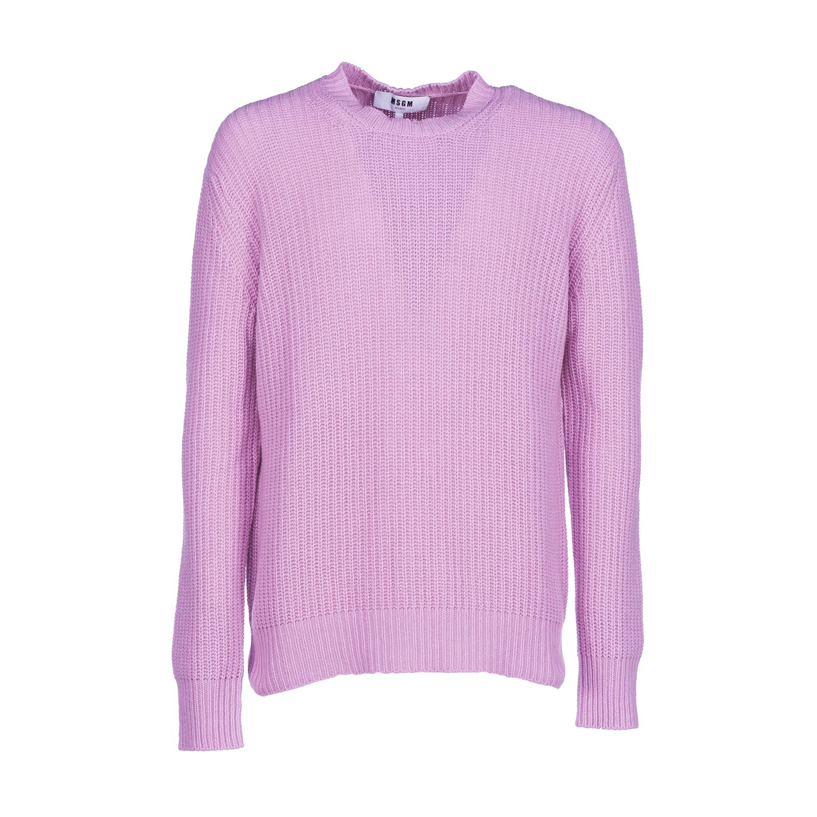Msgm Frayed Ribbed Jumper