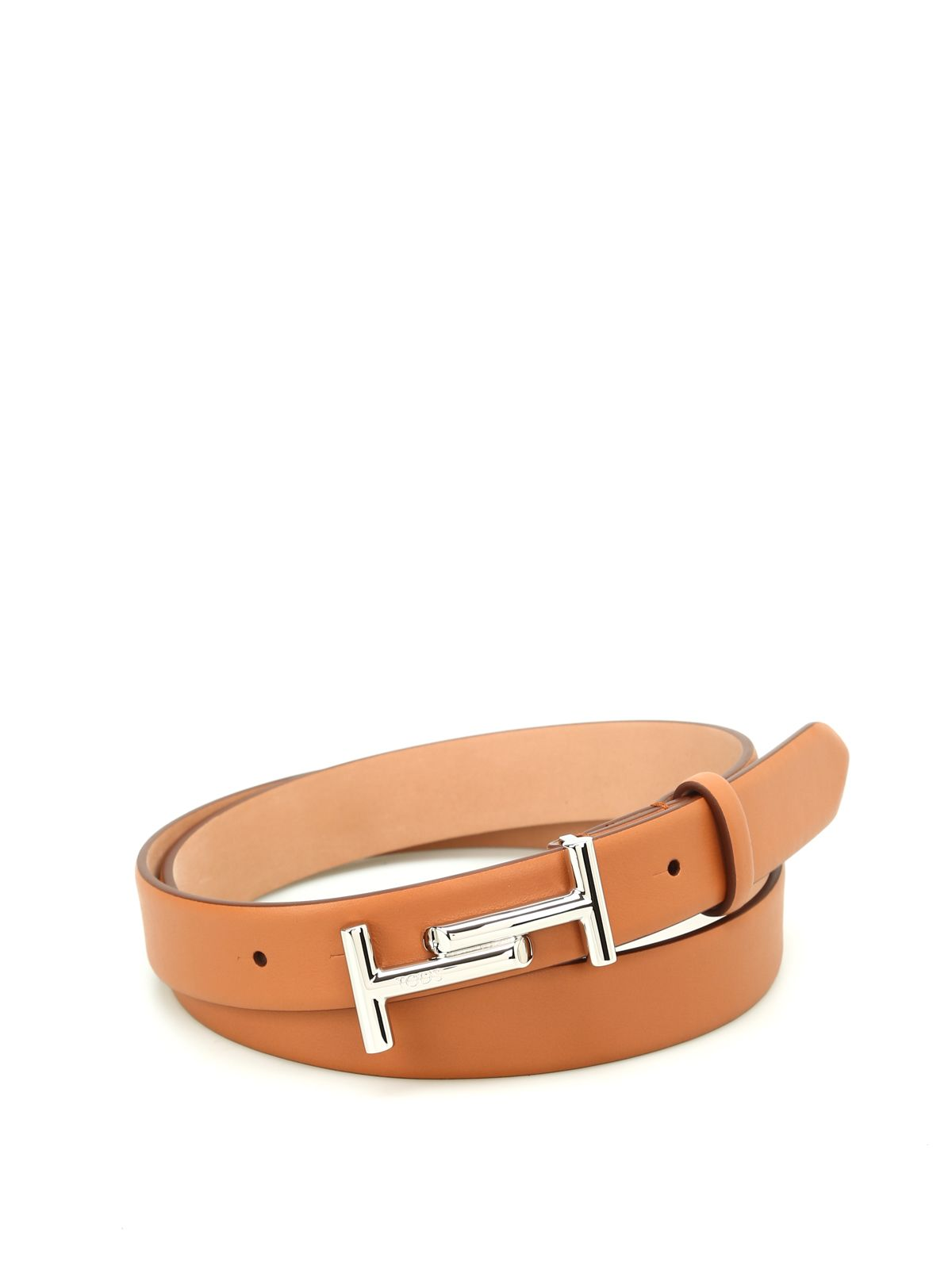 Double T Buckle Leather Belt