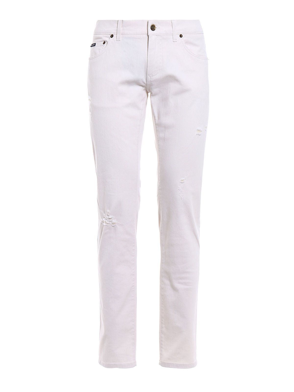 Dolce & Gabbana Stretch White Denim