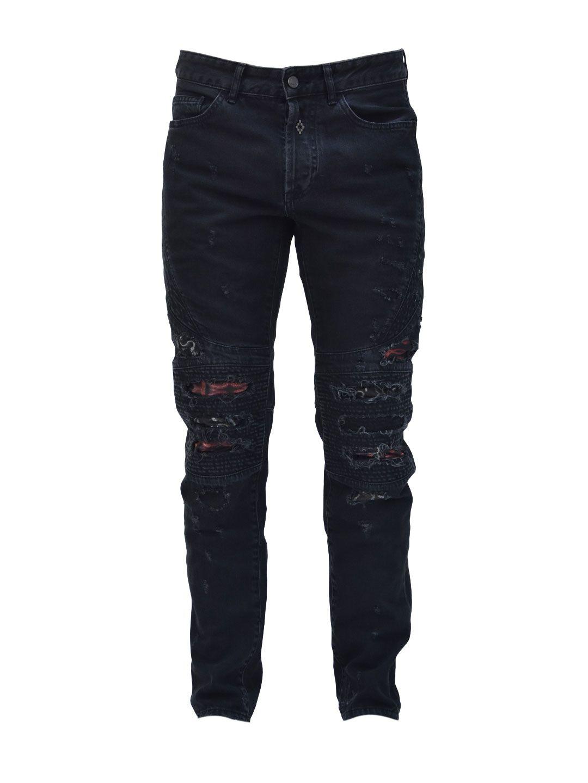 Marcelo Burlon Snakes Biker Jeans