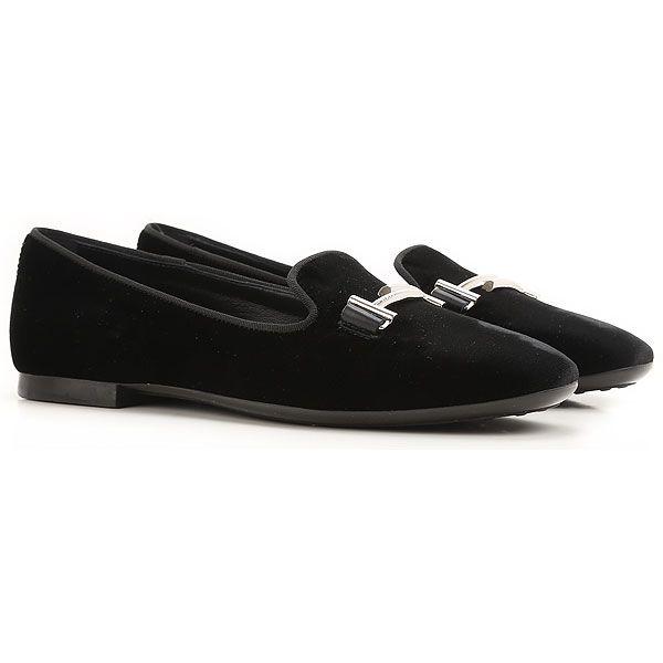 Mini Double T Velvet Loafers in Black