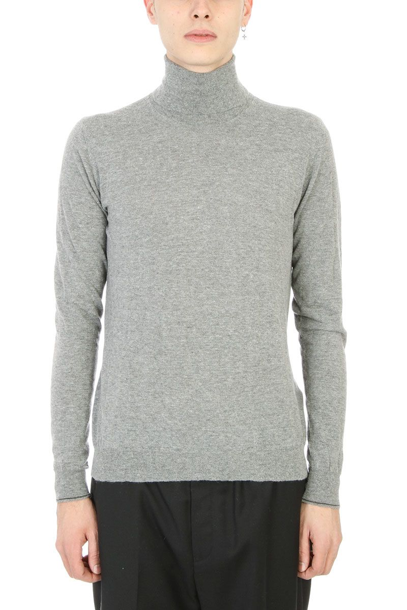 Golden Goose Simon Dolcevita Grey Wool Sweater