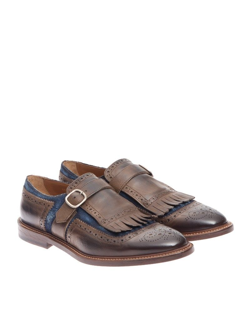 Doucals Loafer Leather Ankle Strap