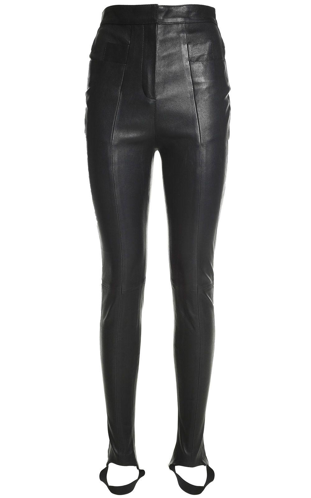 Balmain High-rise Skinny Leather Stirrup Trousers