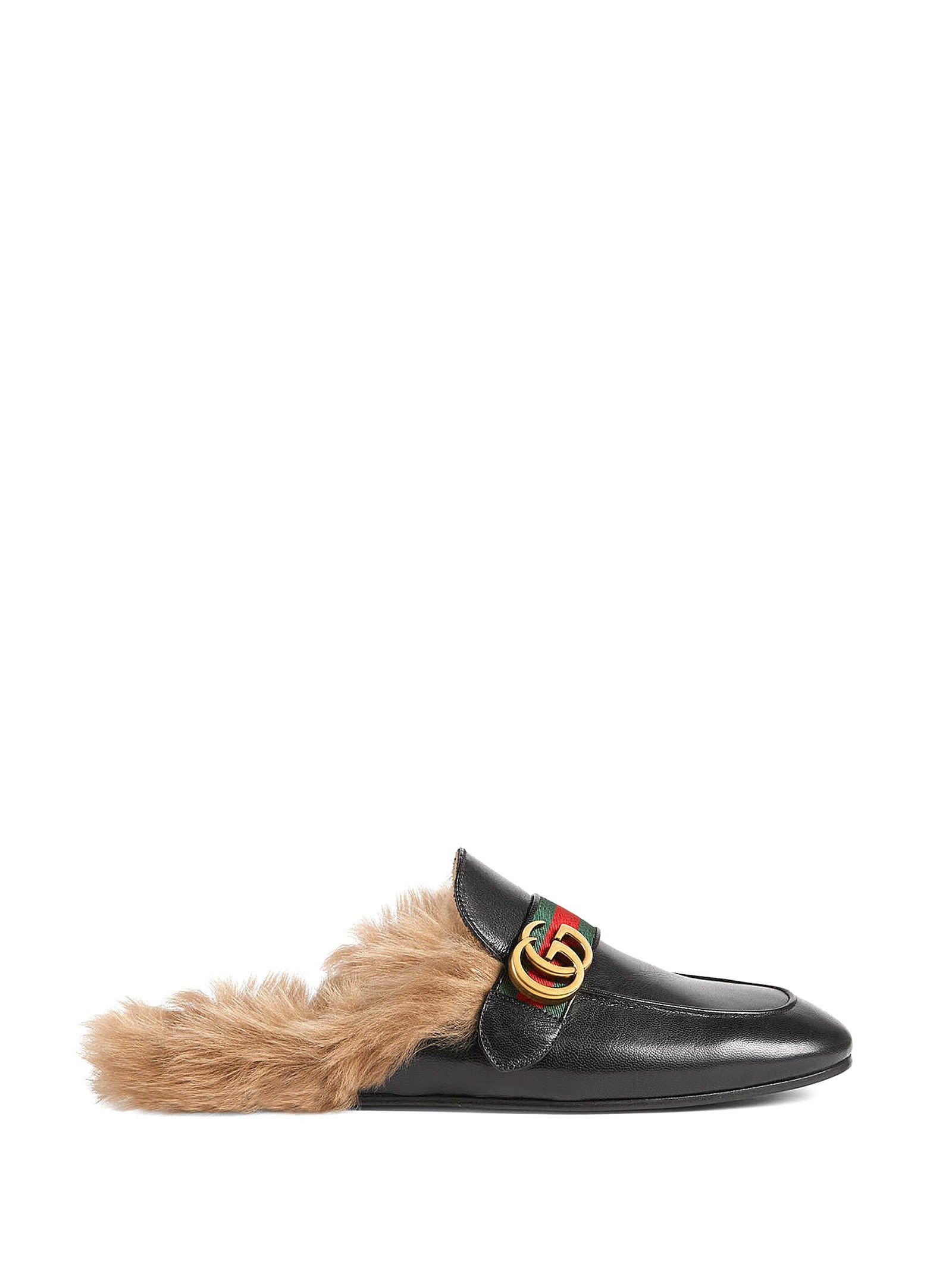Gucci Leathers PRINCETOWN BLACK LEATHER SLIPPER