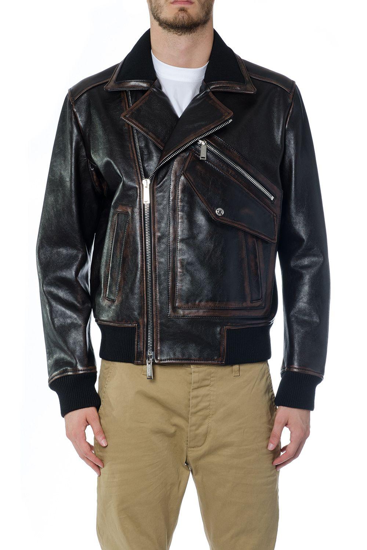 Dsquared2 Leather Pocket Jacket