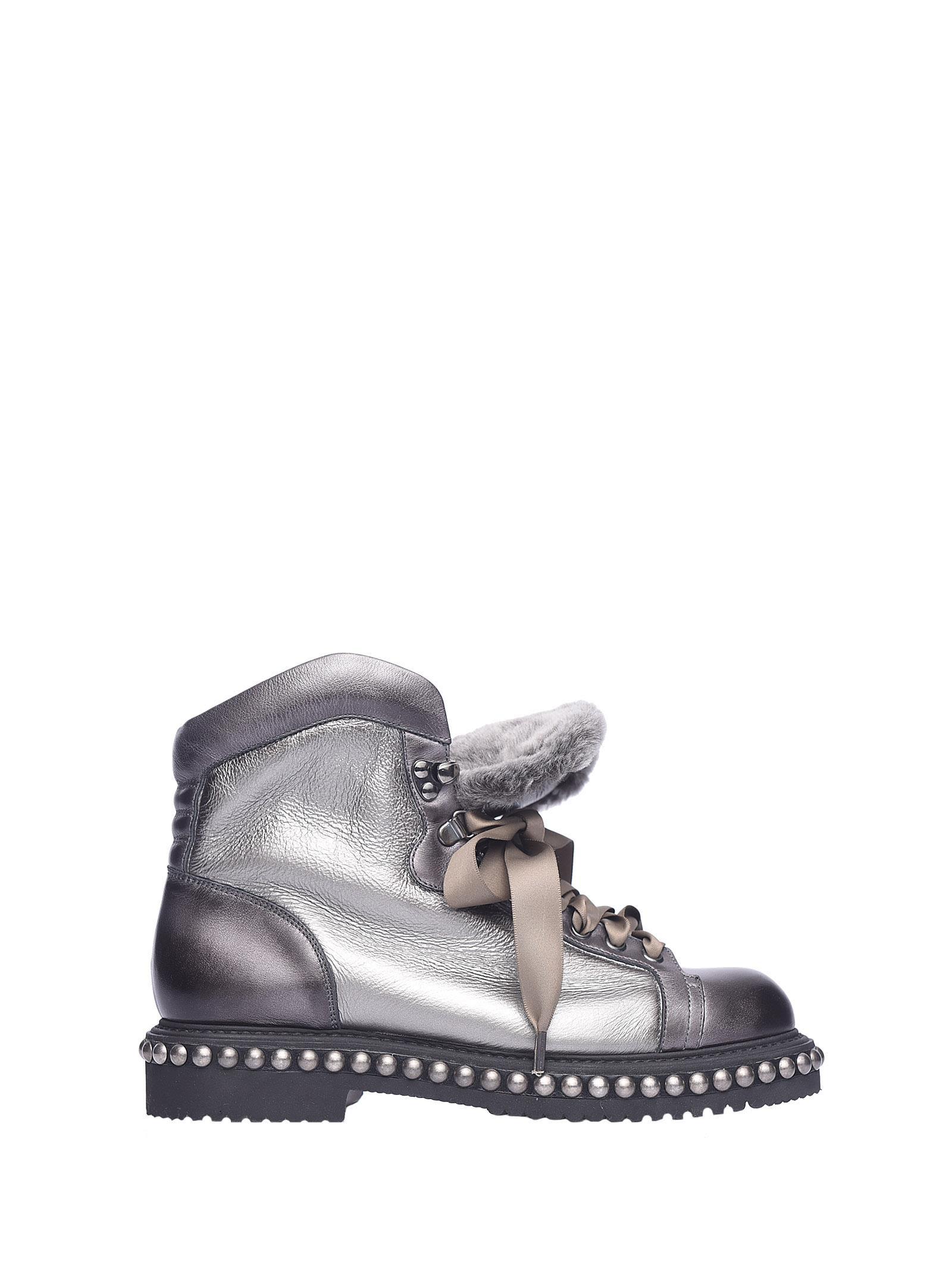 Santoni Metal Demi-boot Silver