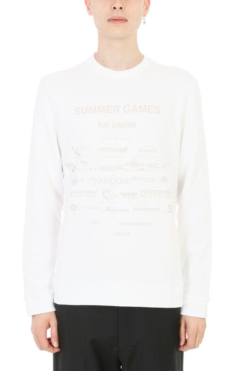 Raf Simons Summer Games White Cotton Sweatshirt