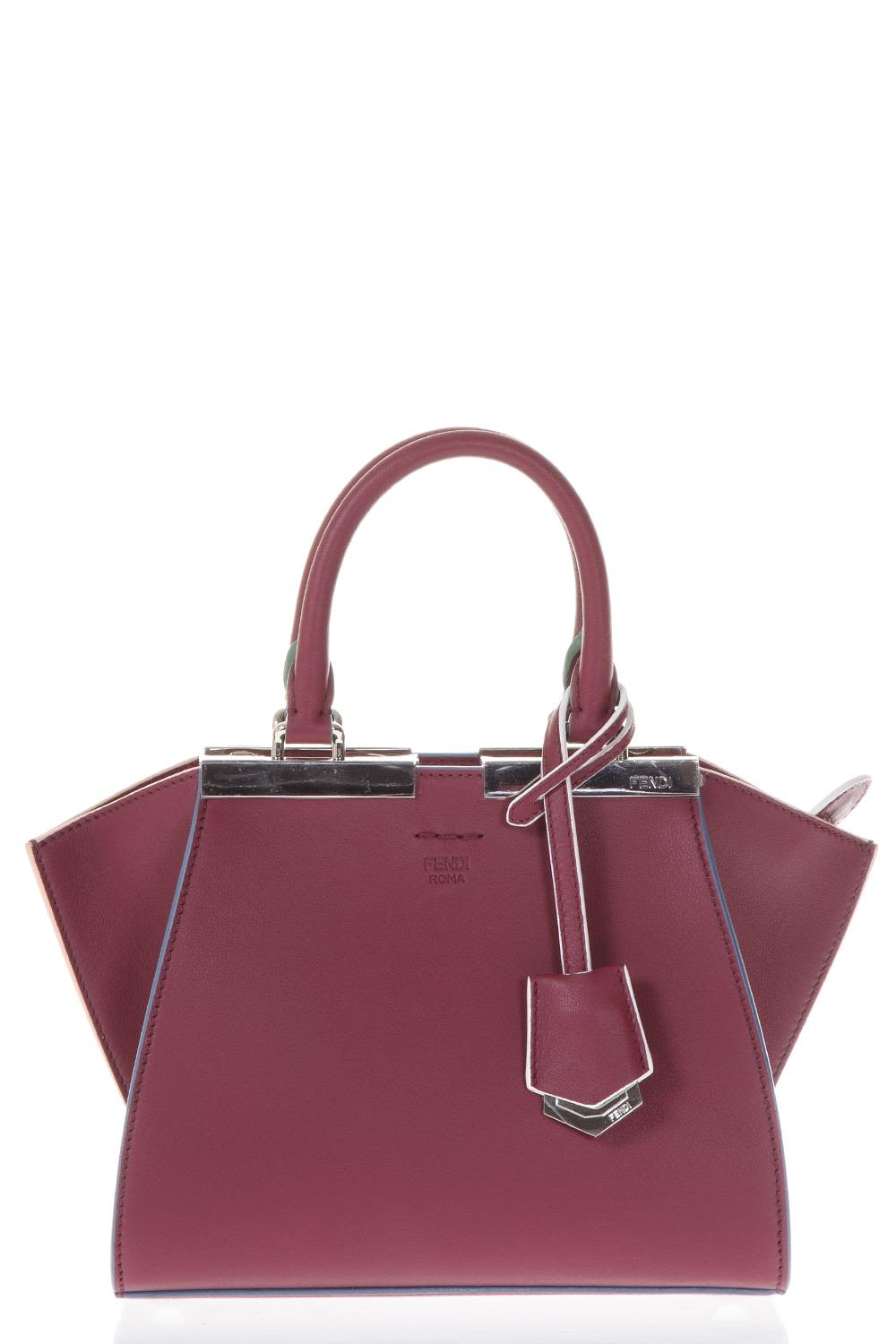 Fendi Mini 3jours Cherry Leather Bag