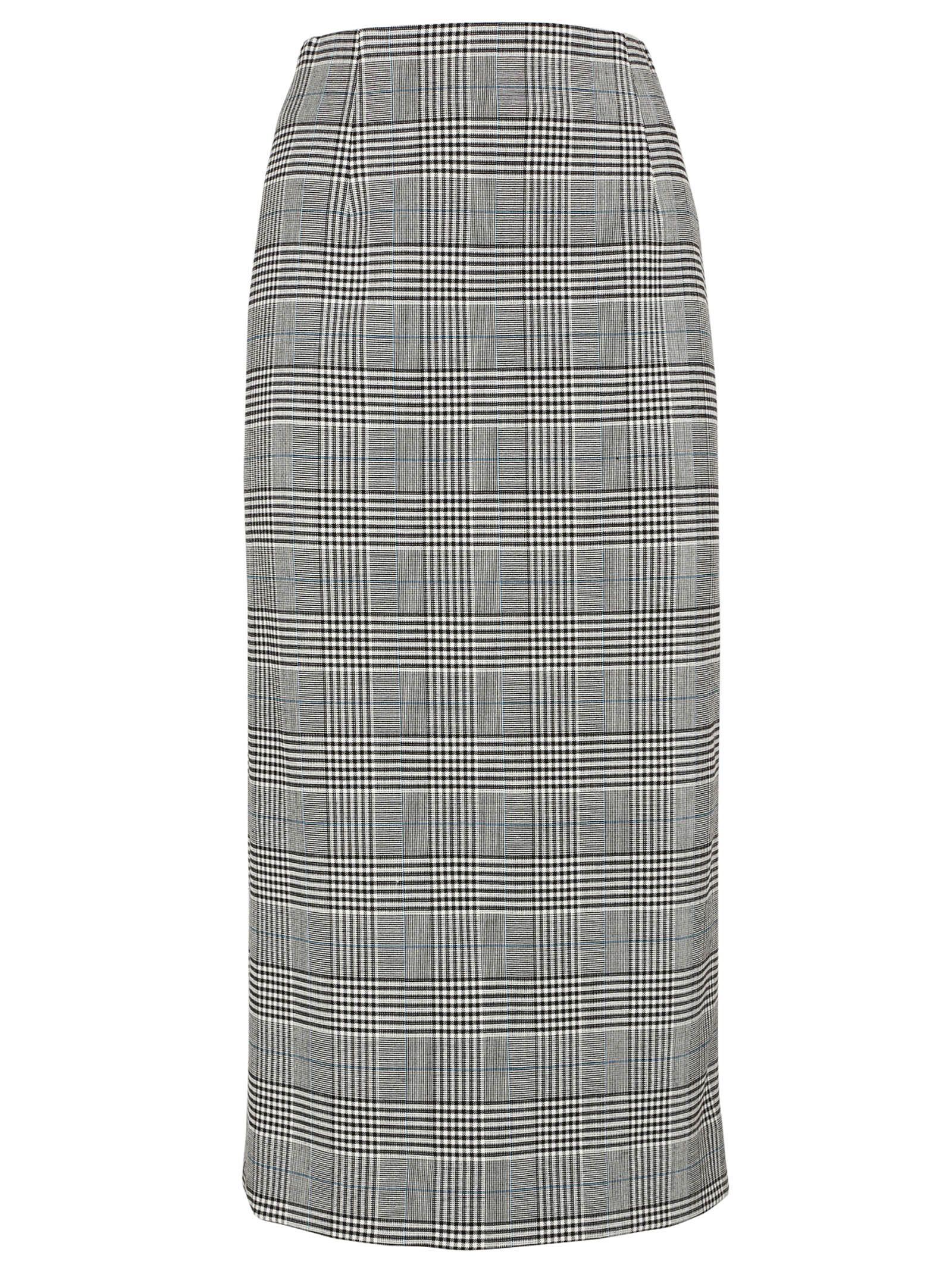 Victoria Beckham Plaid Pattern Skirt