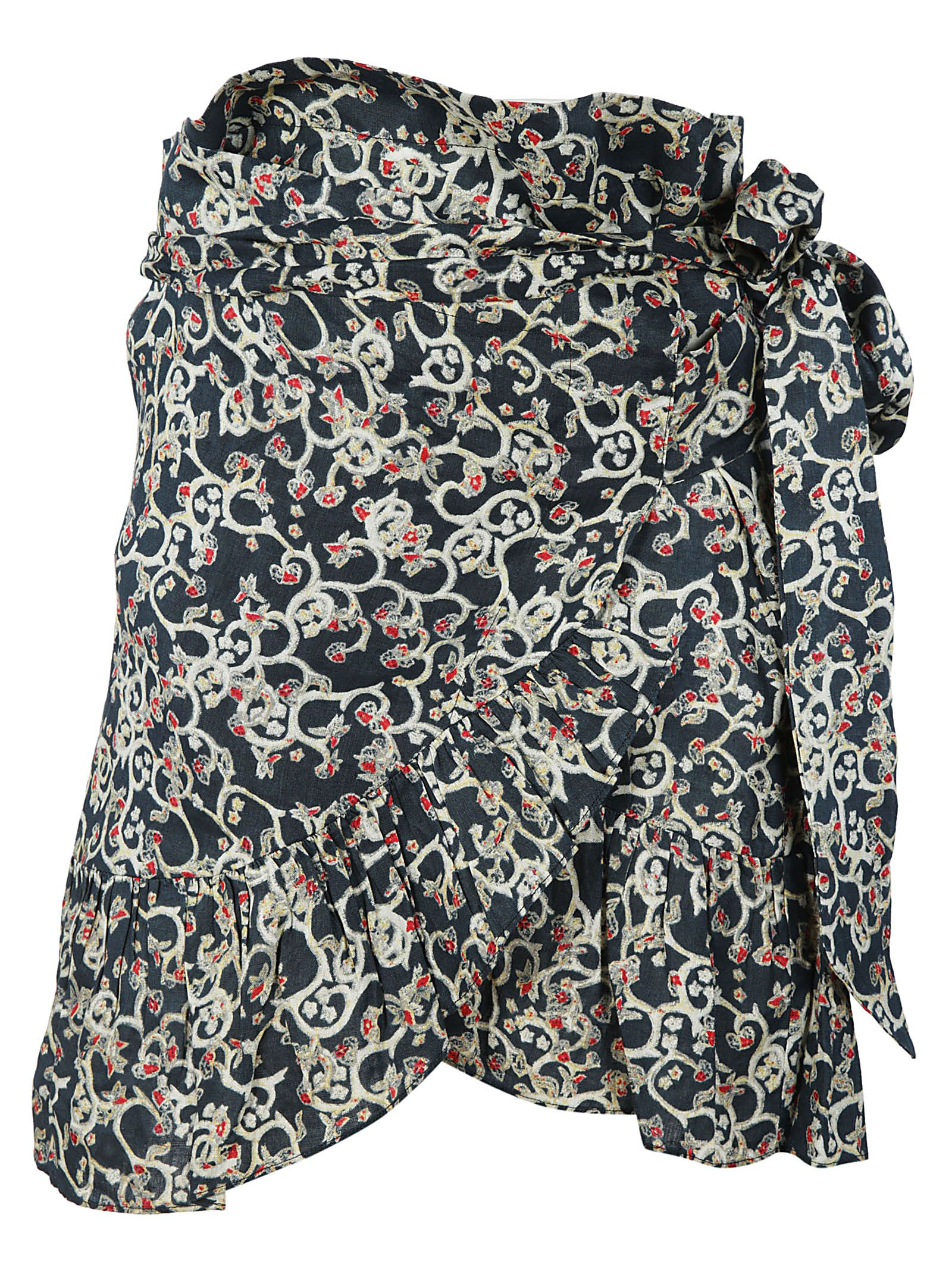 Isabel Marant Mini Wrap Floral Skirt