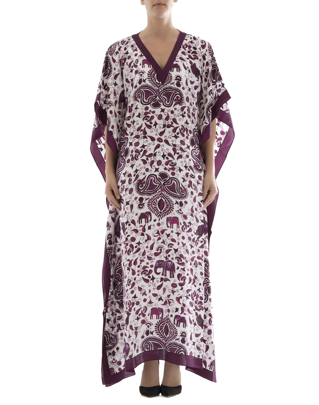 Purple Silk Caftan