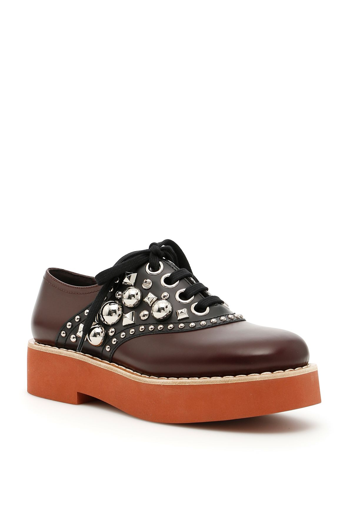 Studded Leather Lace-ups