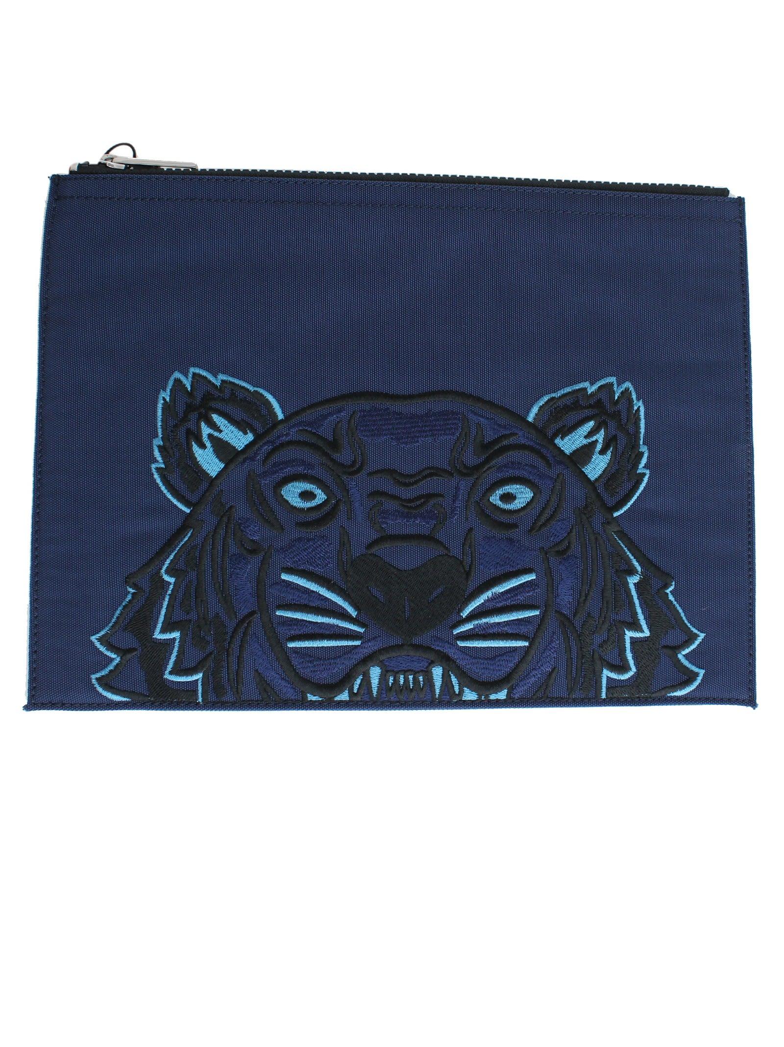 Midnight Blue Tiger Pouch