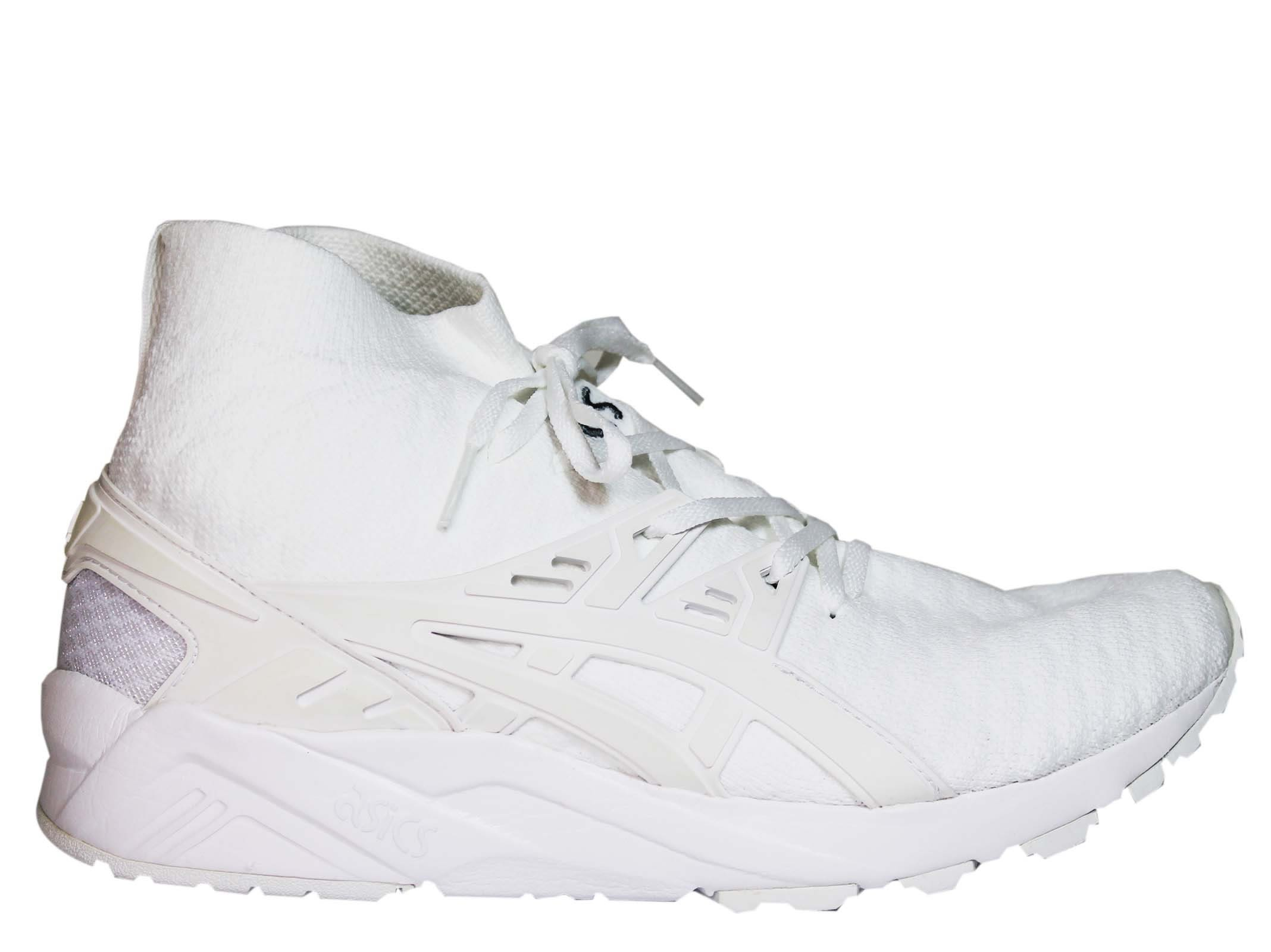 Asics White Gel Kayano Flyknit Sneakers