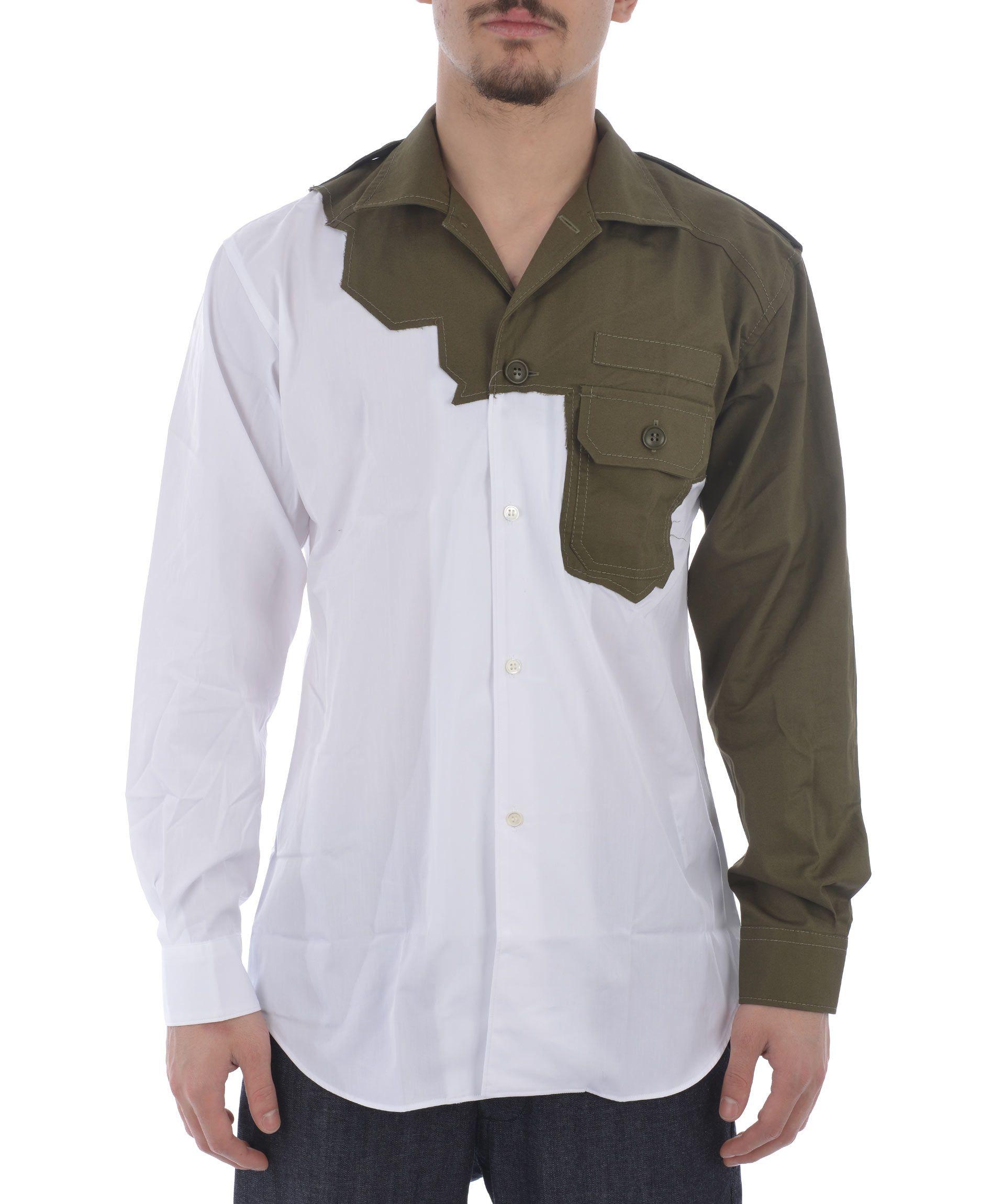 Comme Des Garçons Shirt Chest Pocket Assembled Shirt