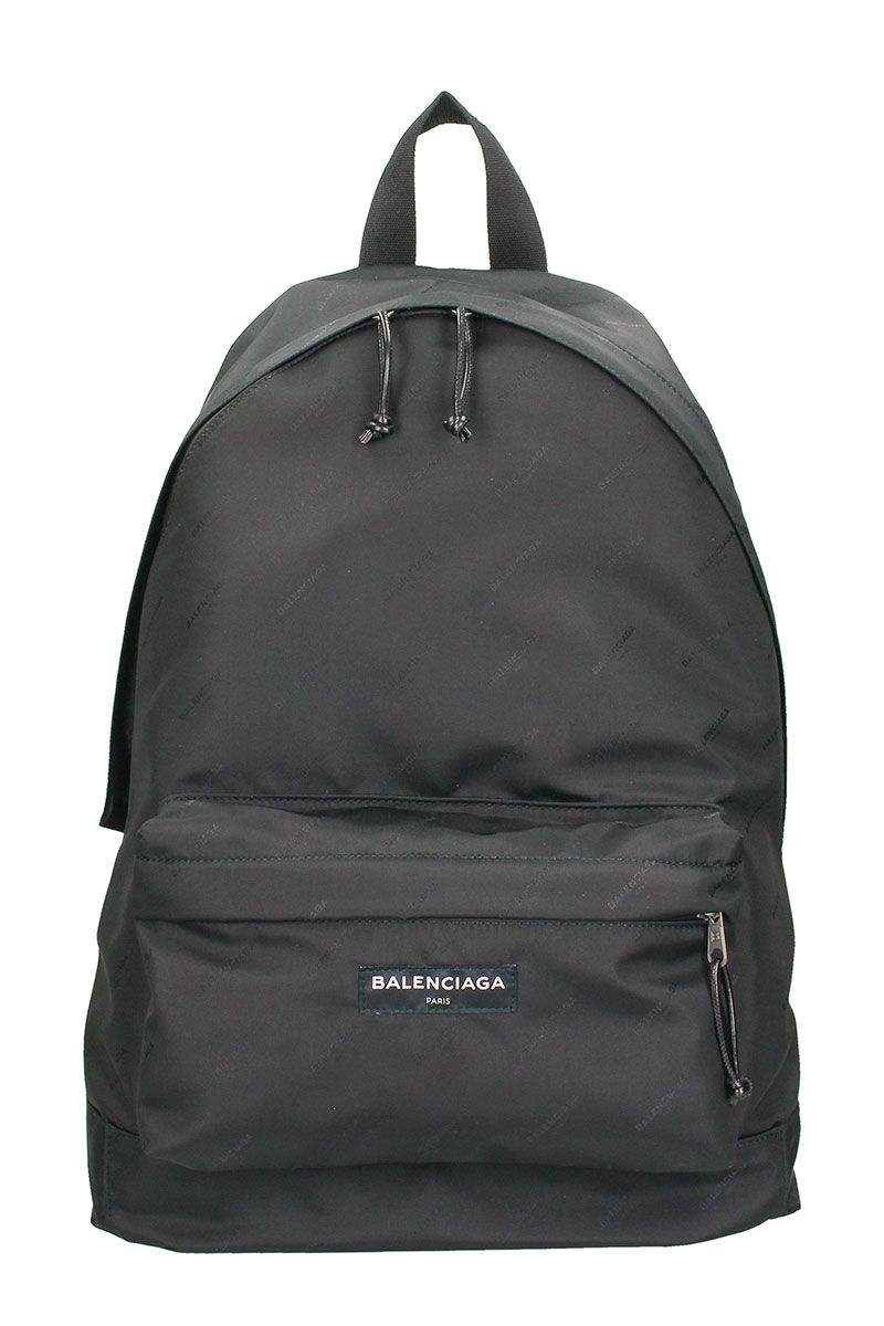 Balenciaga Explorer Twill Logo Black Nylon Backpack