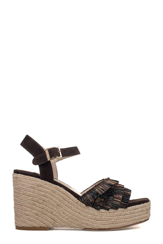 Brown Puget Suede Wedge Sandal