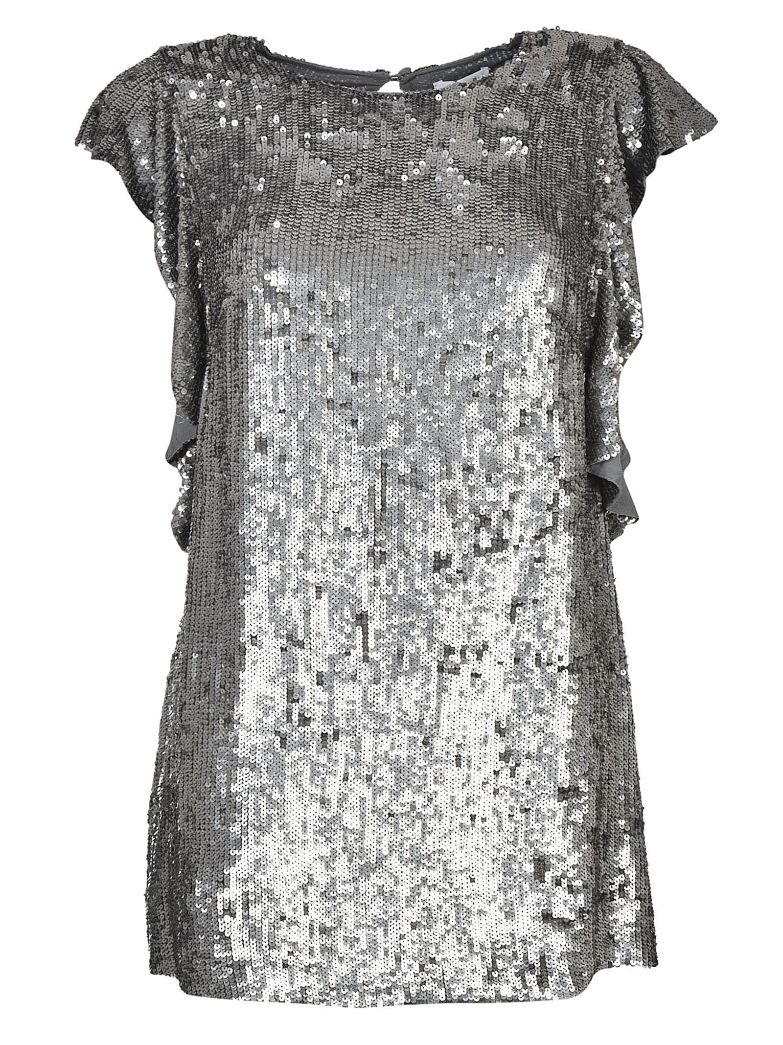 Parosh Sequin Detailed Top