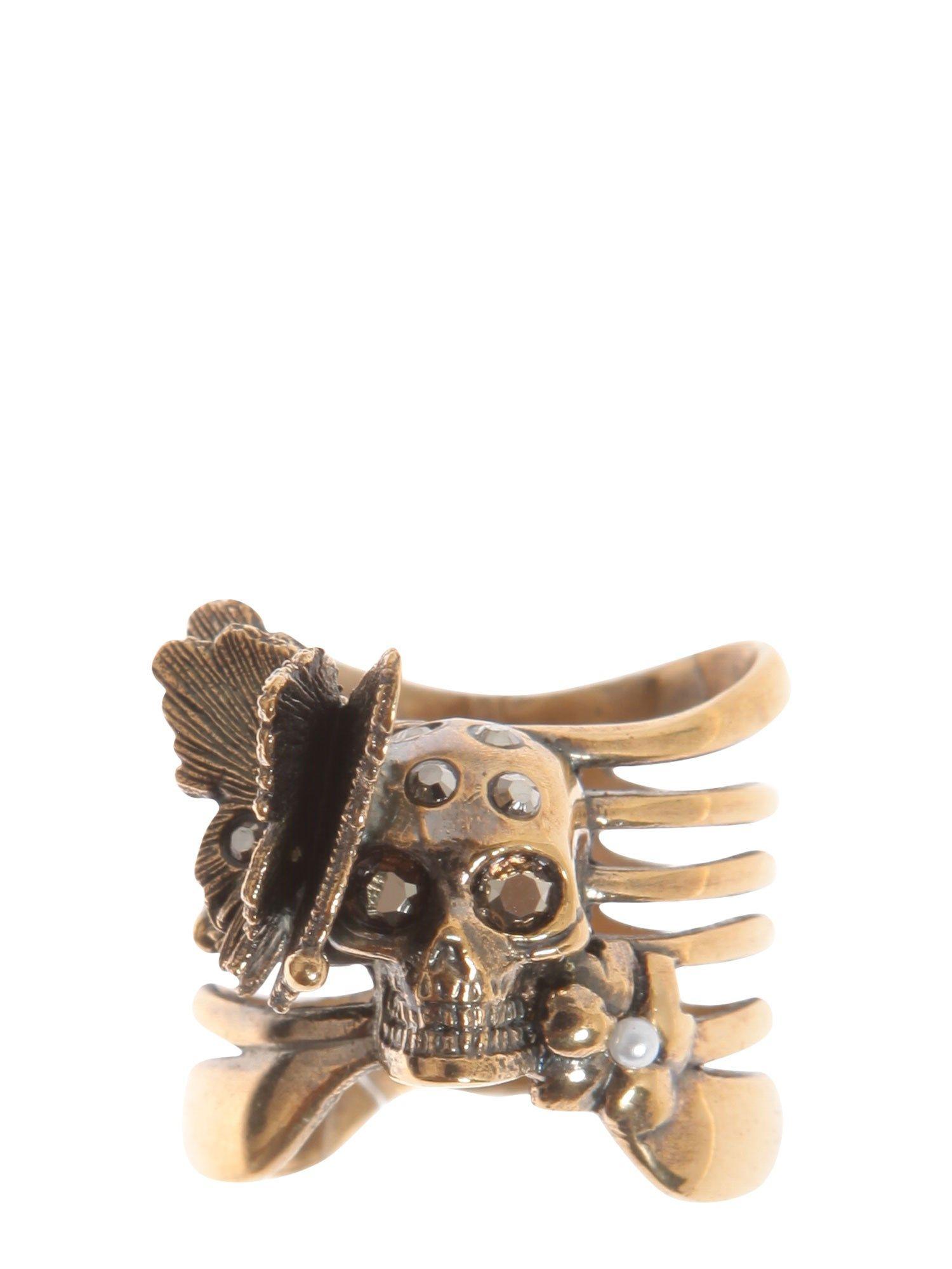 Skeleton Butterfly Ring