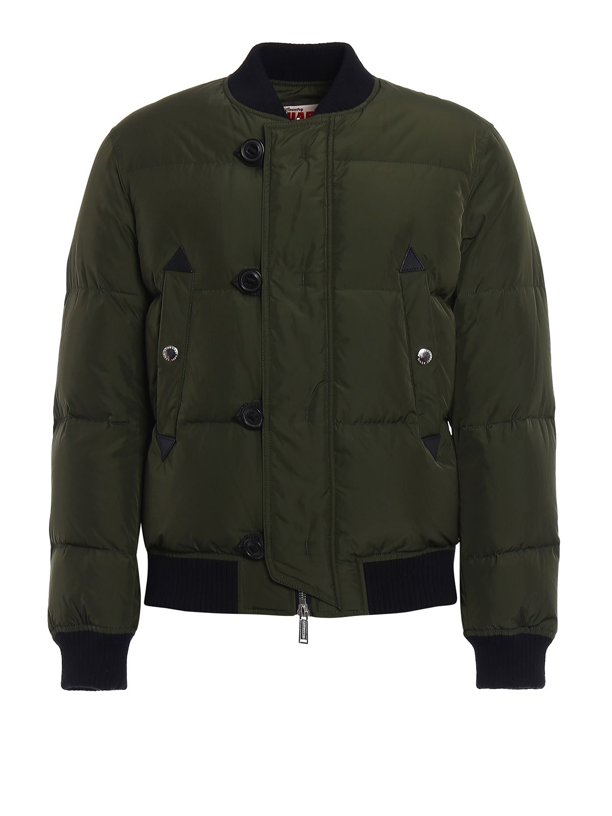 Real Down Padded Bomber Jacket