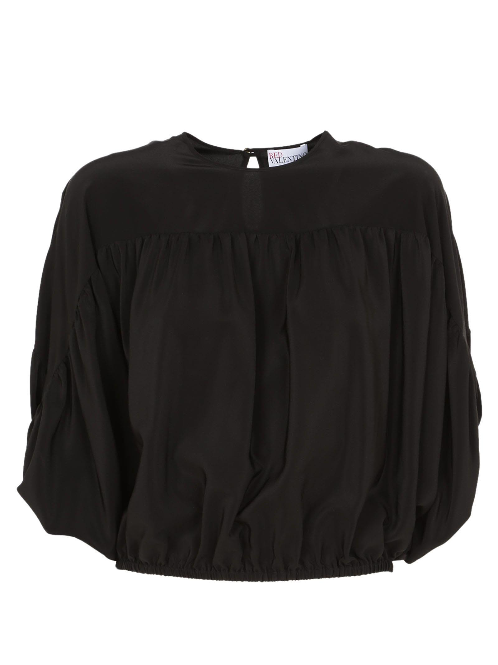 Red Valentino Peasant Blouse