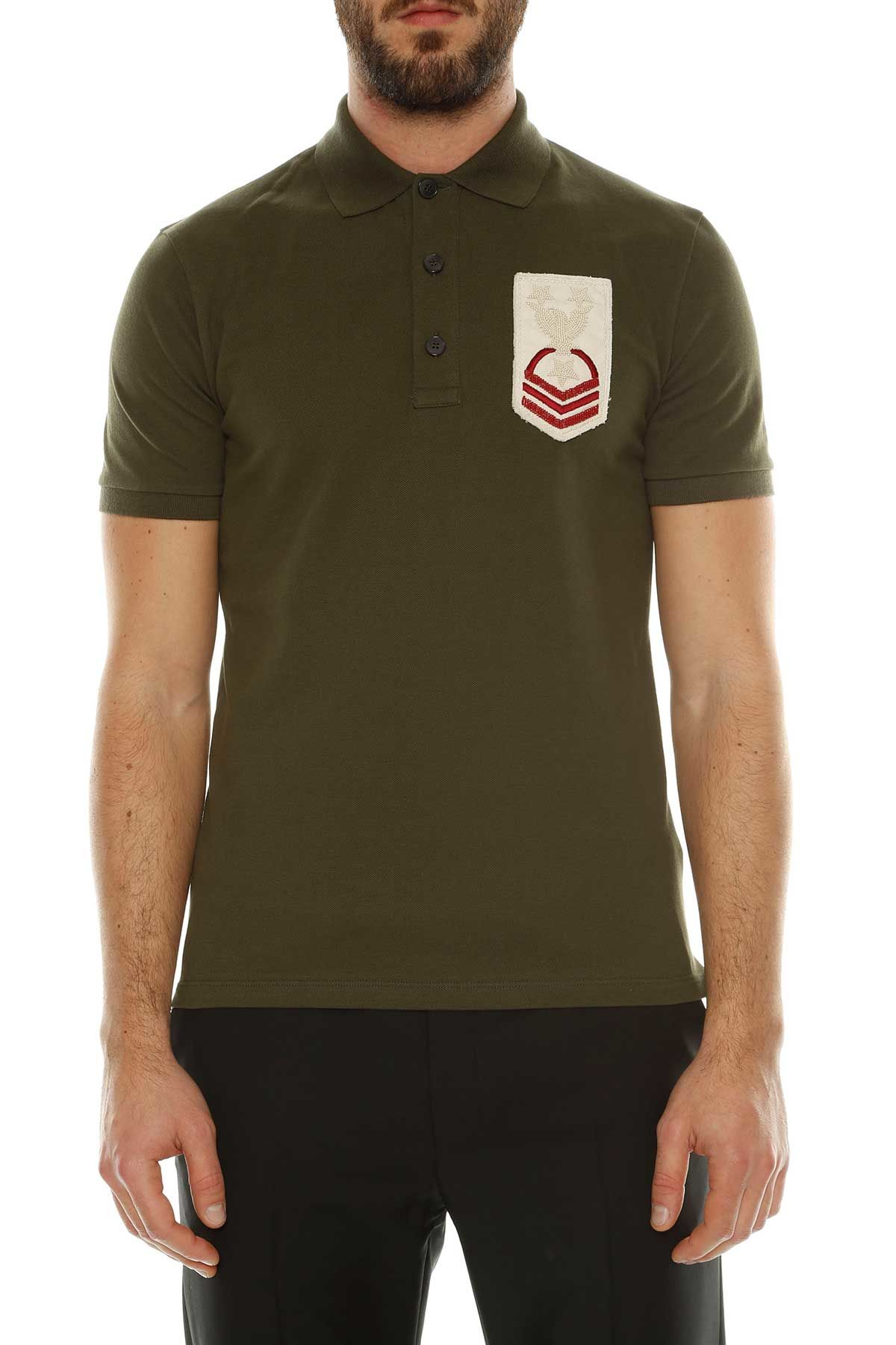 Valentino Embroidered Polo T-shirt