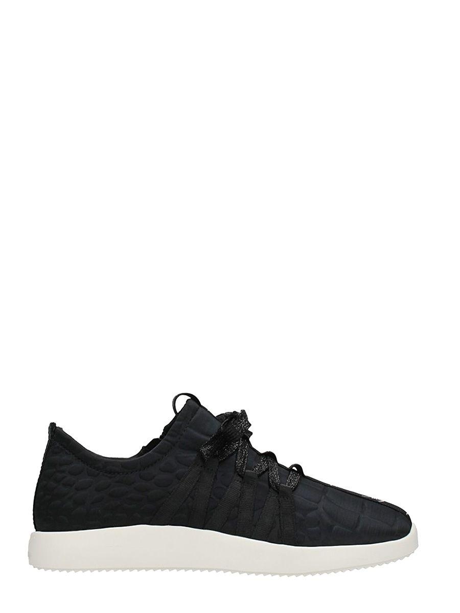 Giuseppe Zanotti Black Cocco Print Sneakers