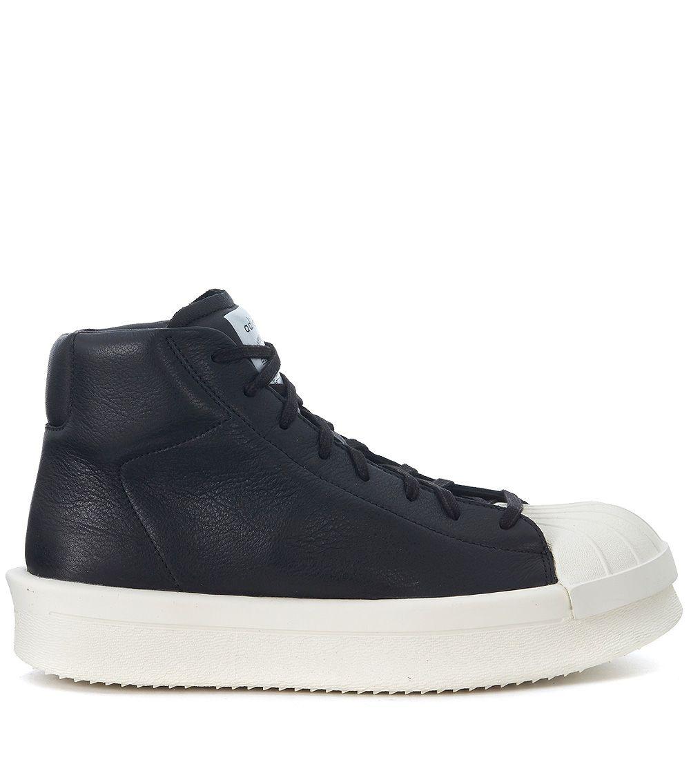 rick owens adidas by rick owens ro mastodon promodel leather sneaker nero men 39 s sneakers. Black Bedroom Furniture Sets. Home Design Ideas