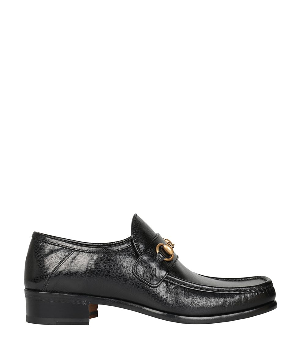 gucci gucci horsebit leather loafer nero men 39 s loafers boat shoes italist. Black Bedroom Furniture Sets. Home Design Ideas