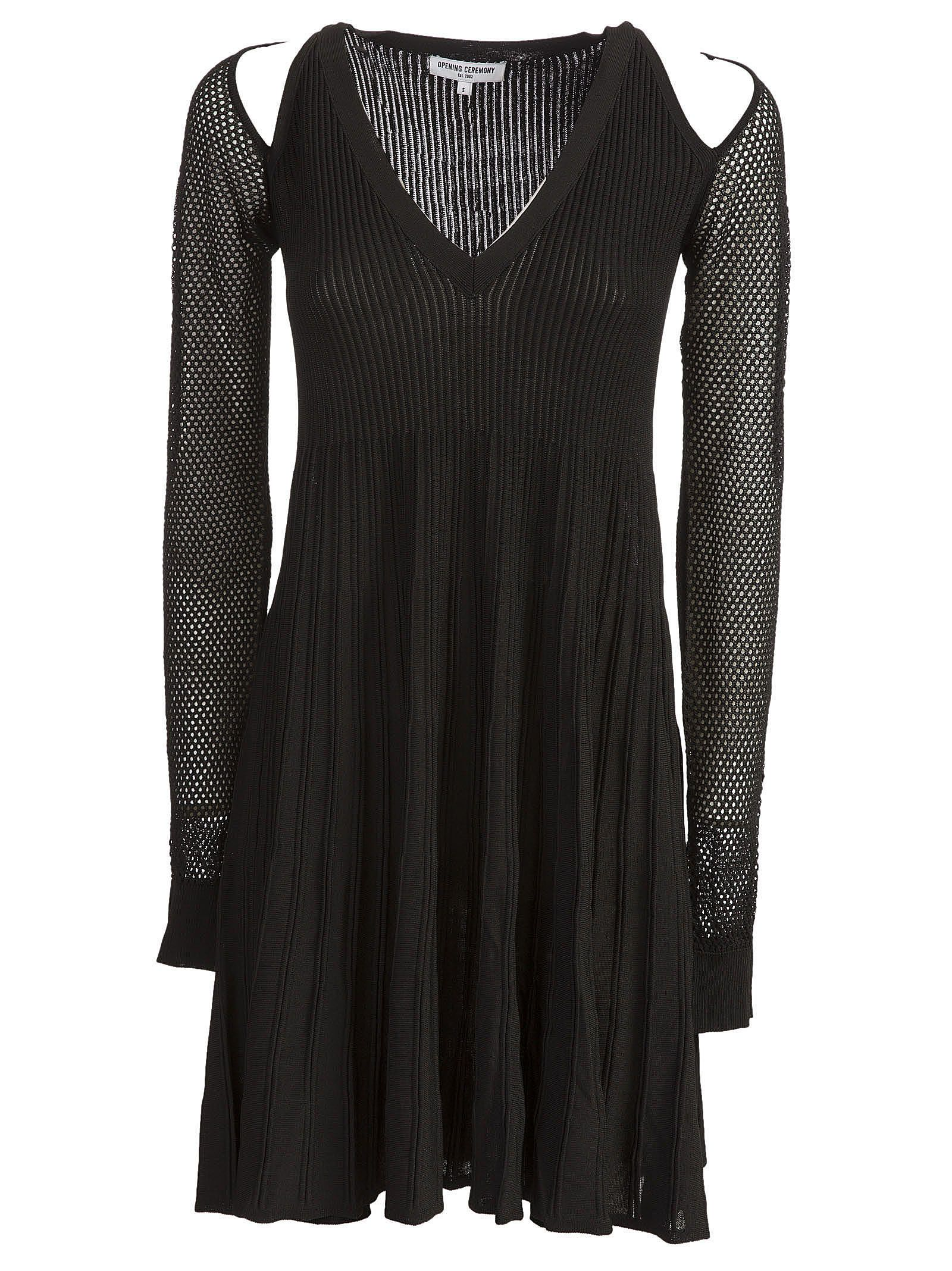 Opening Ceremony Cut Out Mesh Sleeve Dress
