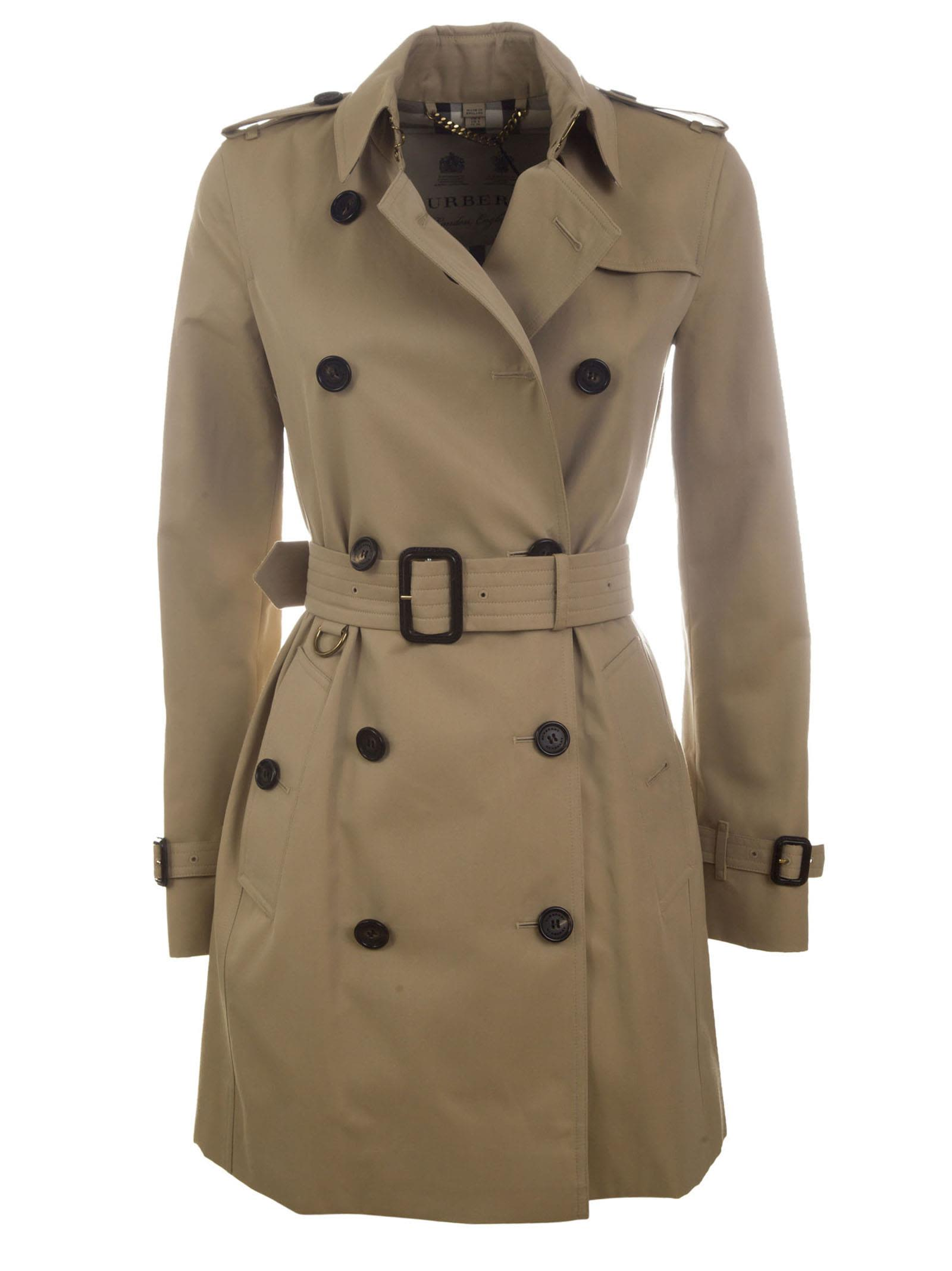 burberry burberry kensington trench coat miele women 39 s coats italist. Black Bedroom Furniture Sets. Home Design Ideas