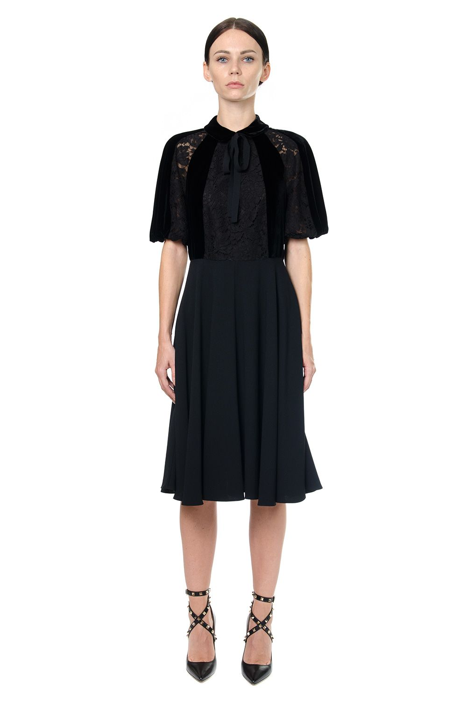 Valentino Velvet & Lace Dress