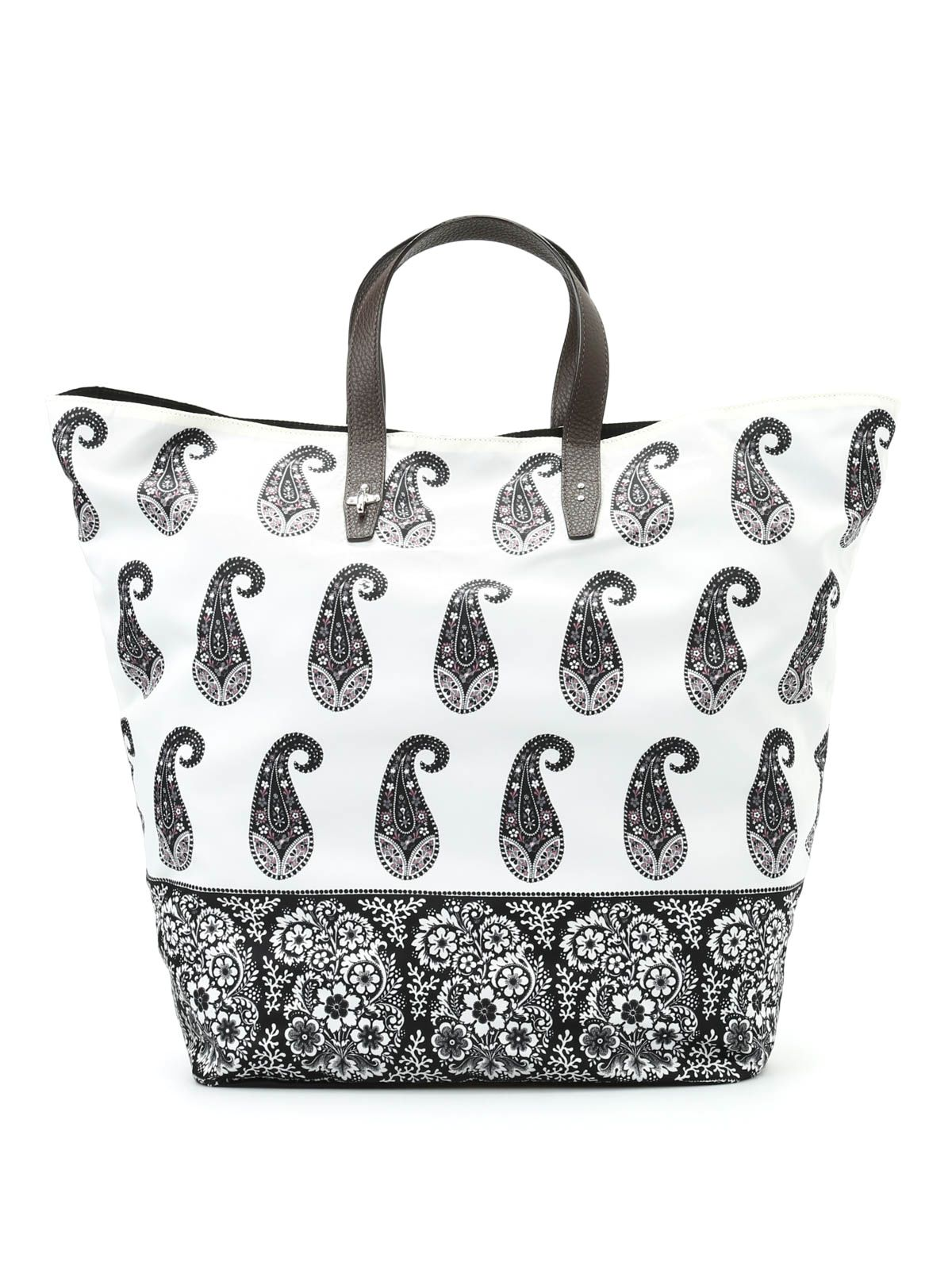 Shopper In Nylon Stampa Paisley
