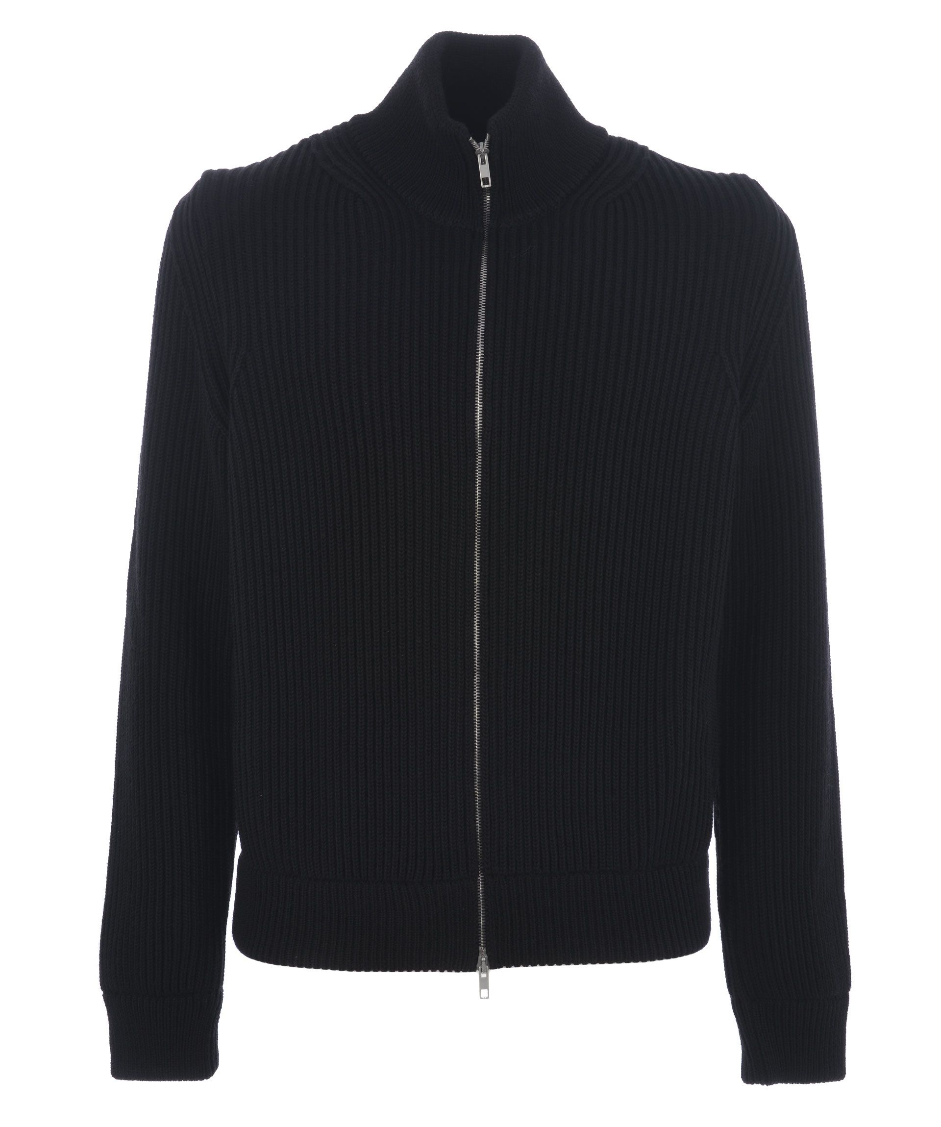 Maison Margiela Zipped Knitted Cardigan