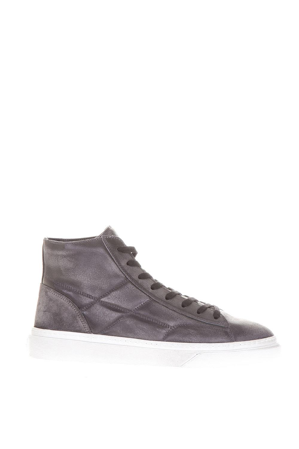 Hogan Suede High-top Sneakers With Quilted Details