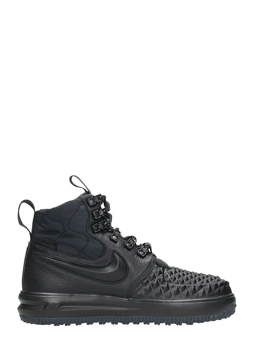 Nike Lunar Force 1 Duckboot Black Leather Sneakers