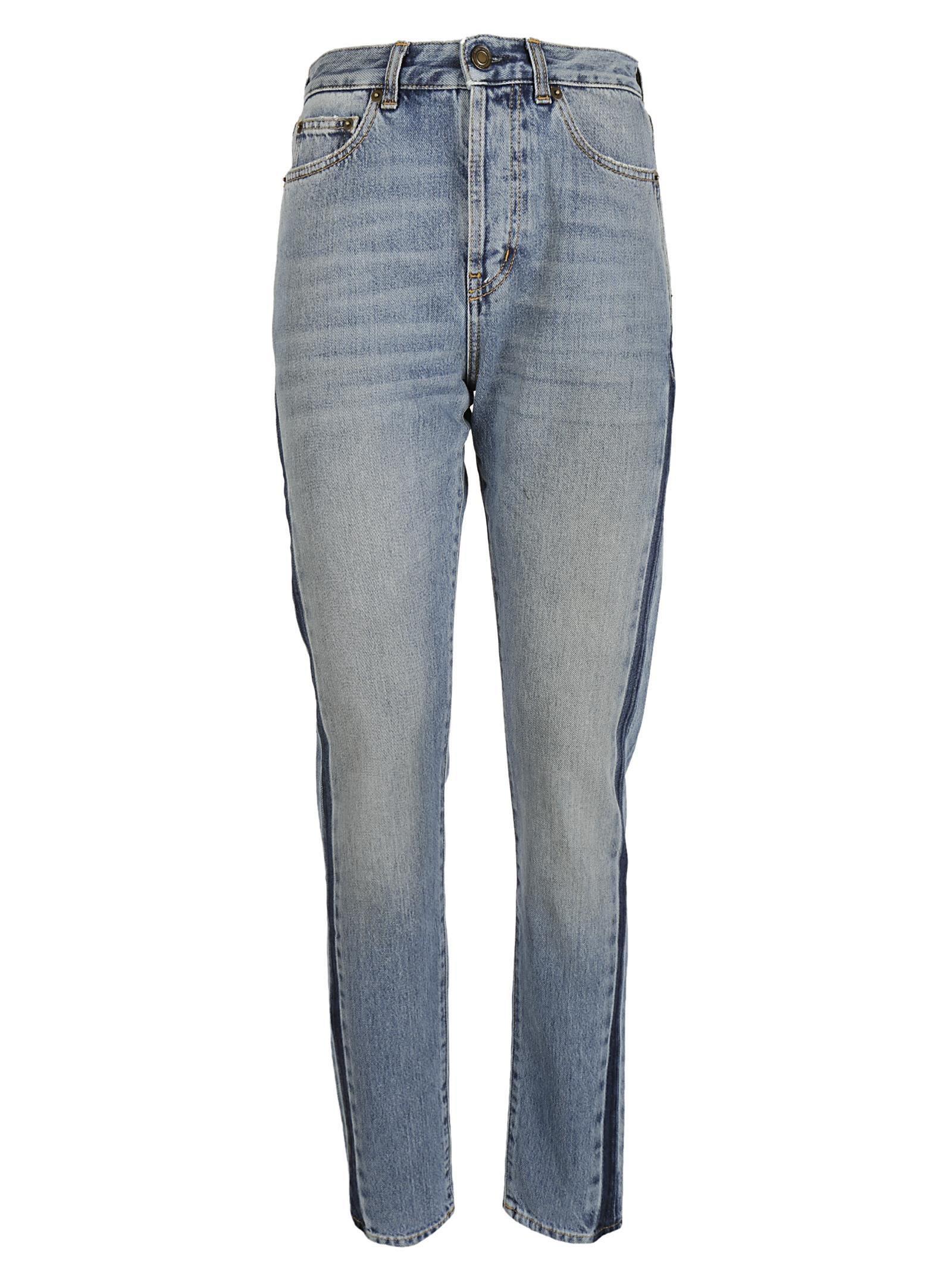 Saint Laurent Side Striped Jeans