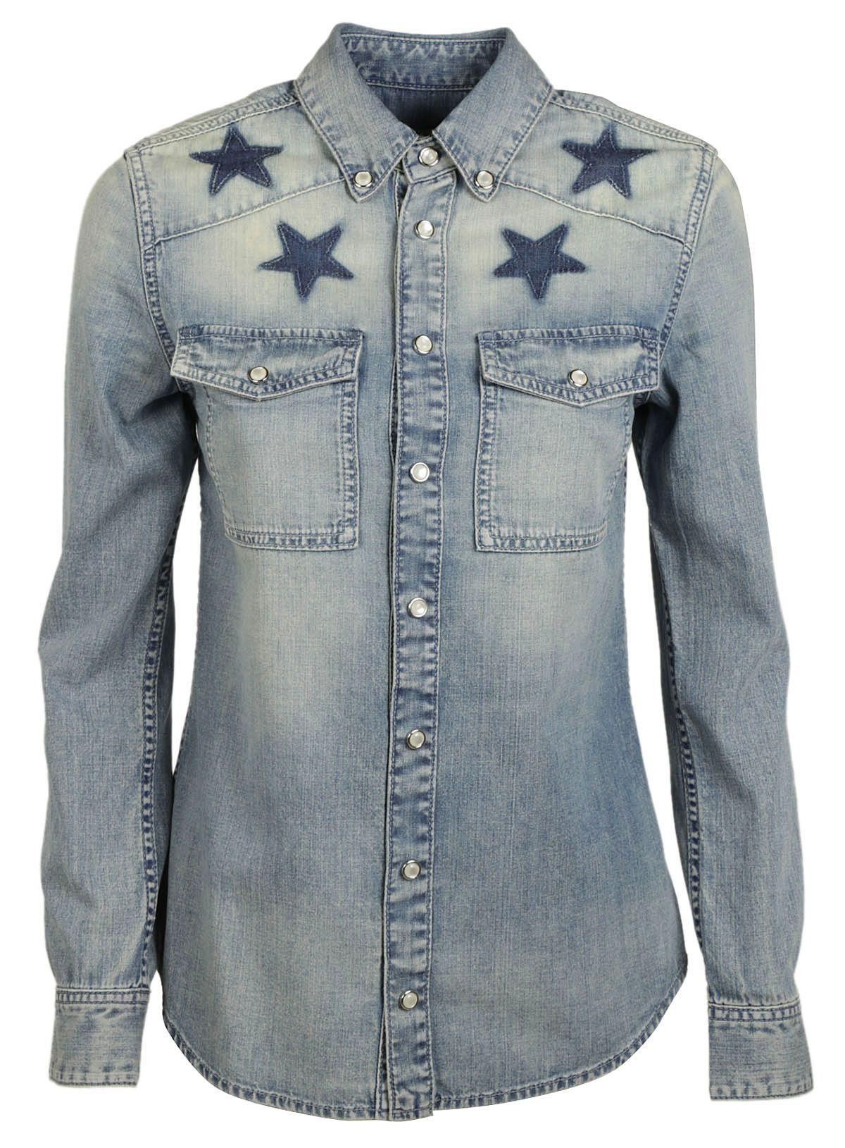 Givenchy Givenchy Star Print Denim Shirt